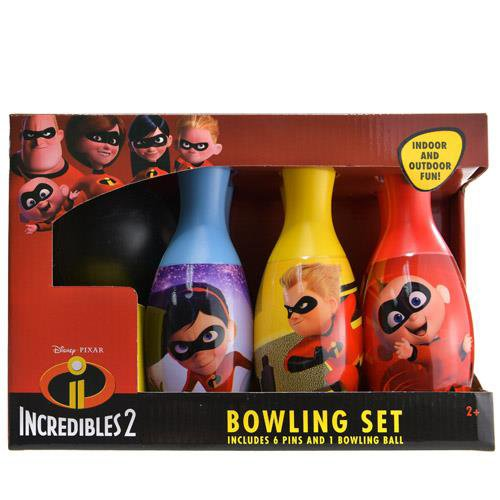 Disney Incredibles 2 Bowling Pin Party Indoor Outdoor Family Play Set