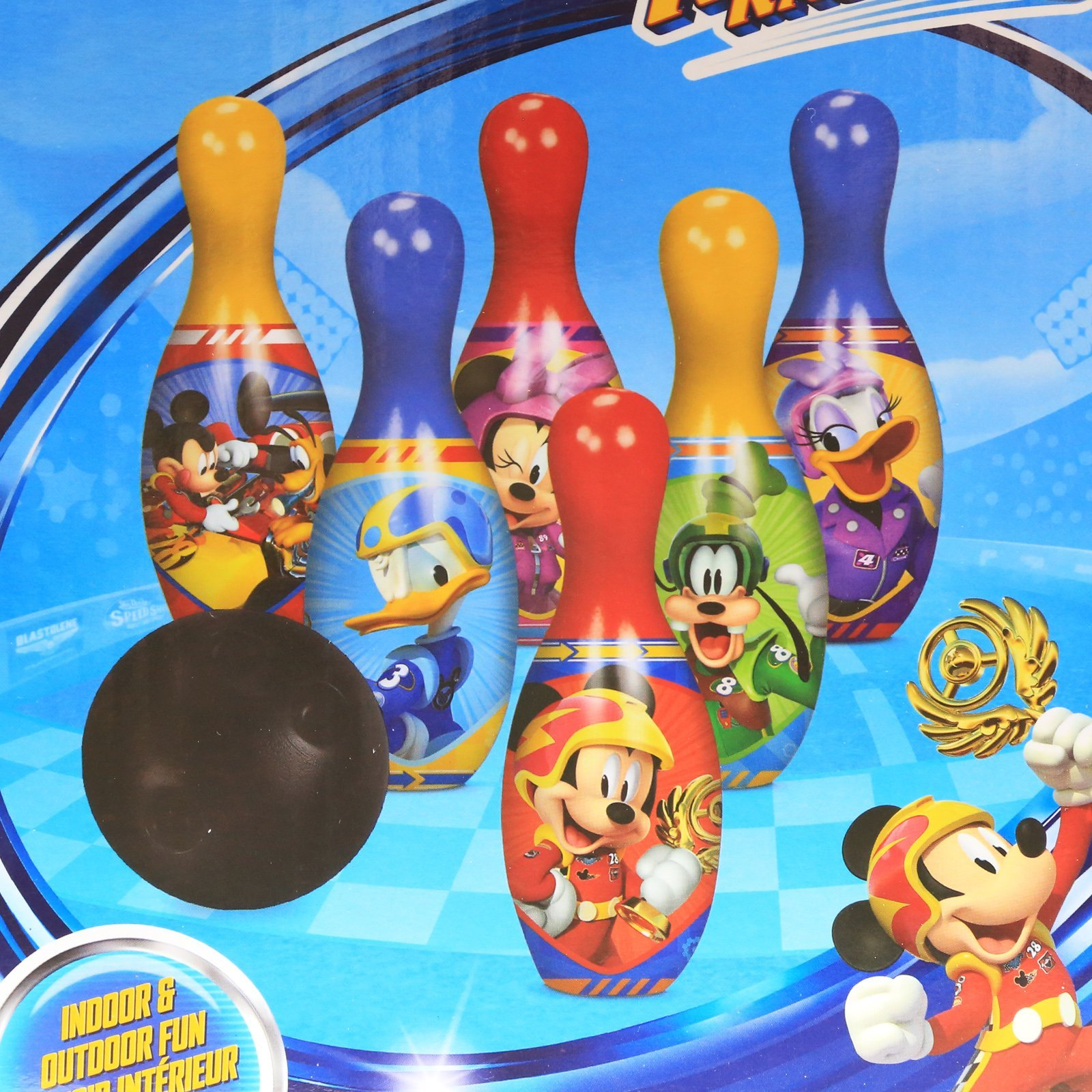 Mickey Mouse Roadster Racer Bowling Pin Party Indoor Outdoor Family Play Set