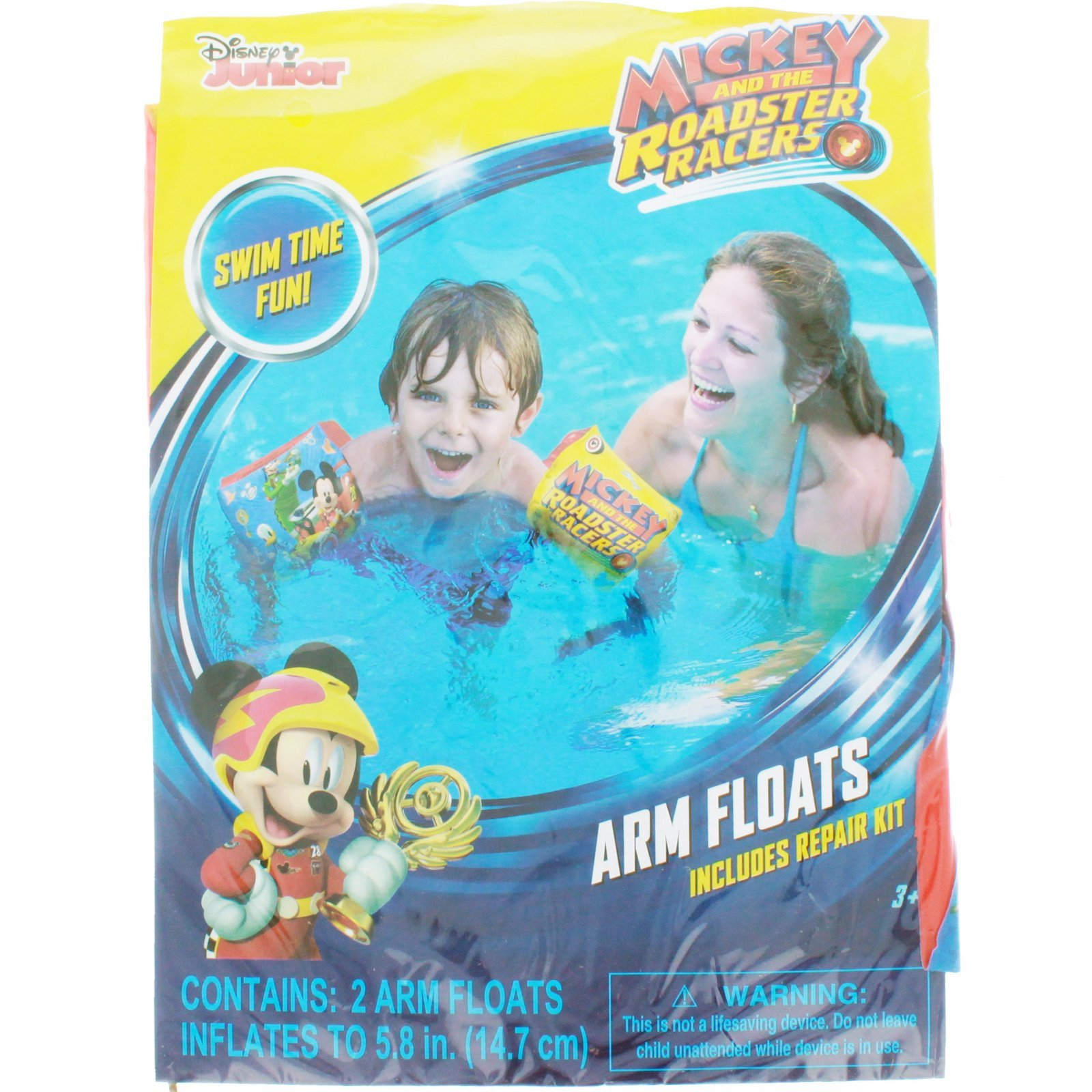 Disney Mickey and the Roadster Racers Swimming Pool Inflatable Arm Floats Floaties