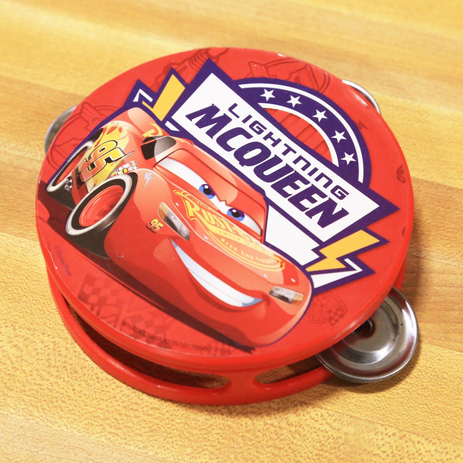 Disney Pixar Cars 3 Kids Tambourine Educational Musical Instrument Toy Gift