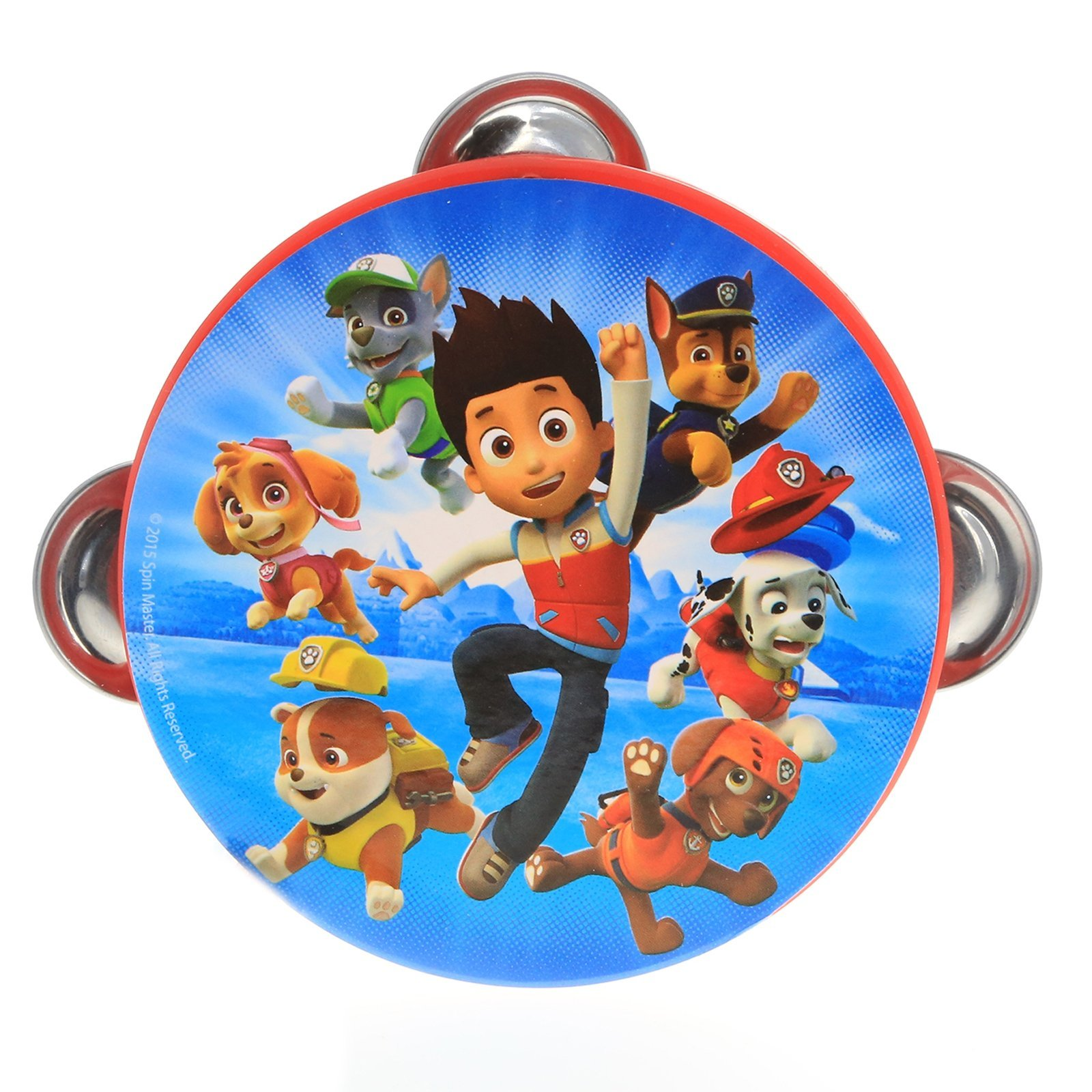 Nickelodeon Paw Patrol Kids Tambourine Educational Musical Instrument Toy Gift