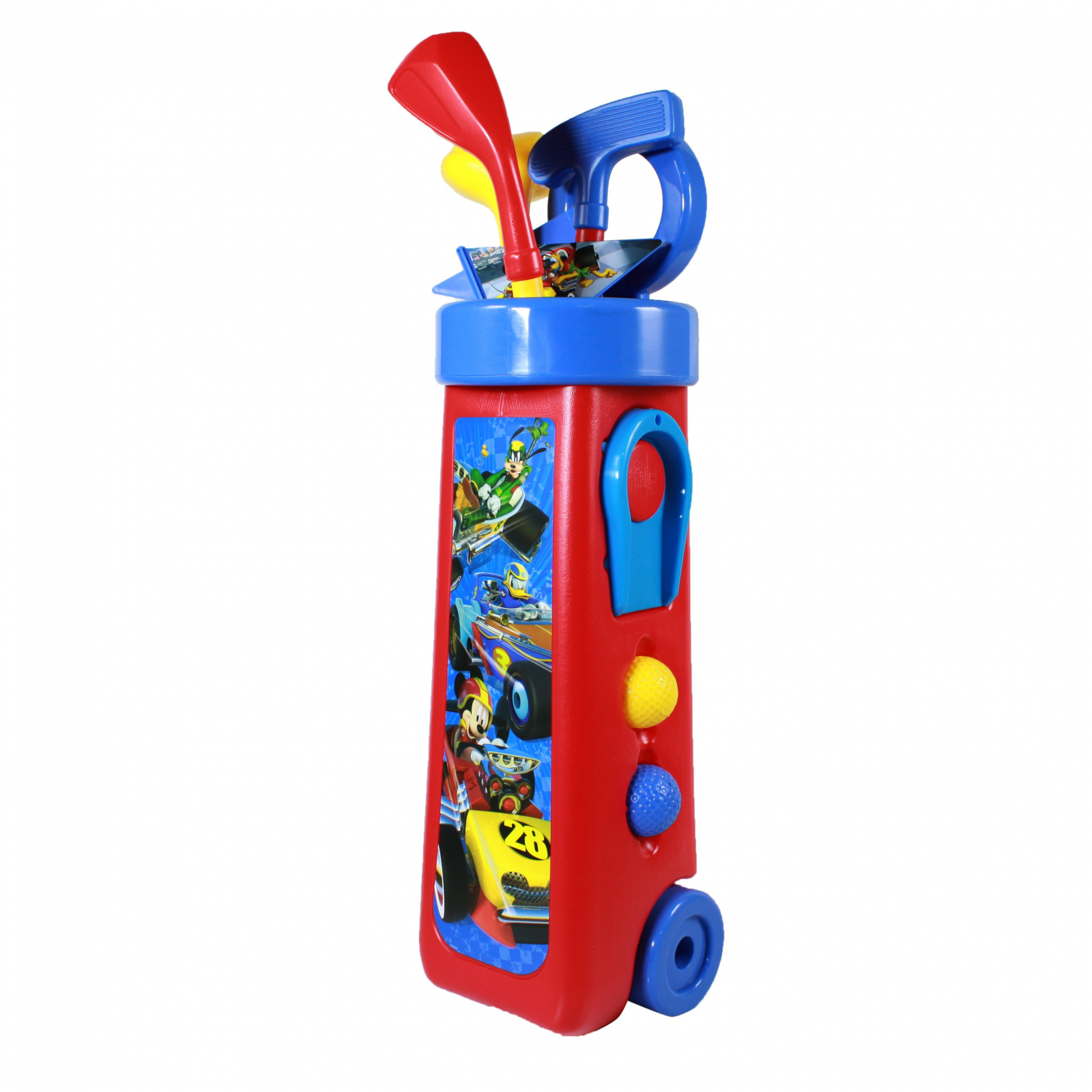 Disney Mickey Mouse Kids Golf Caddy Play Set 10 Pieces