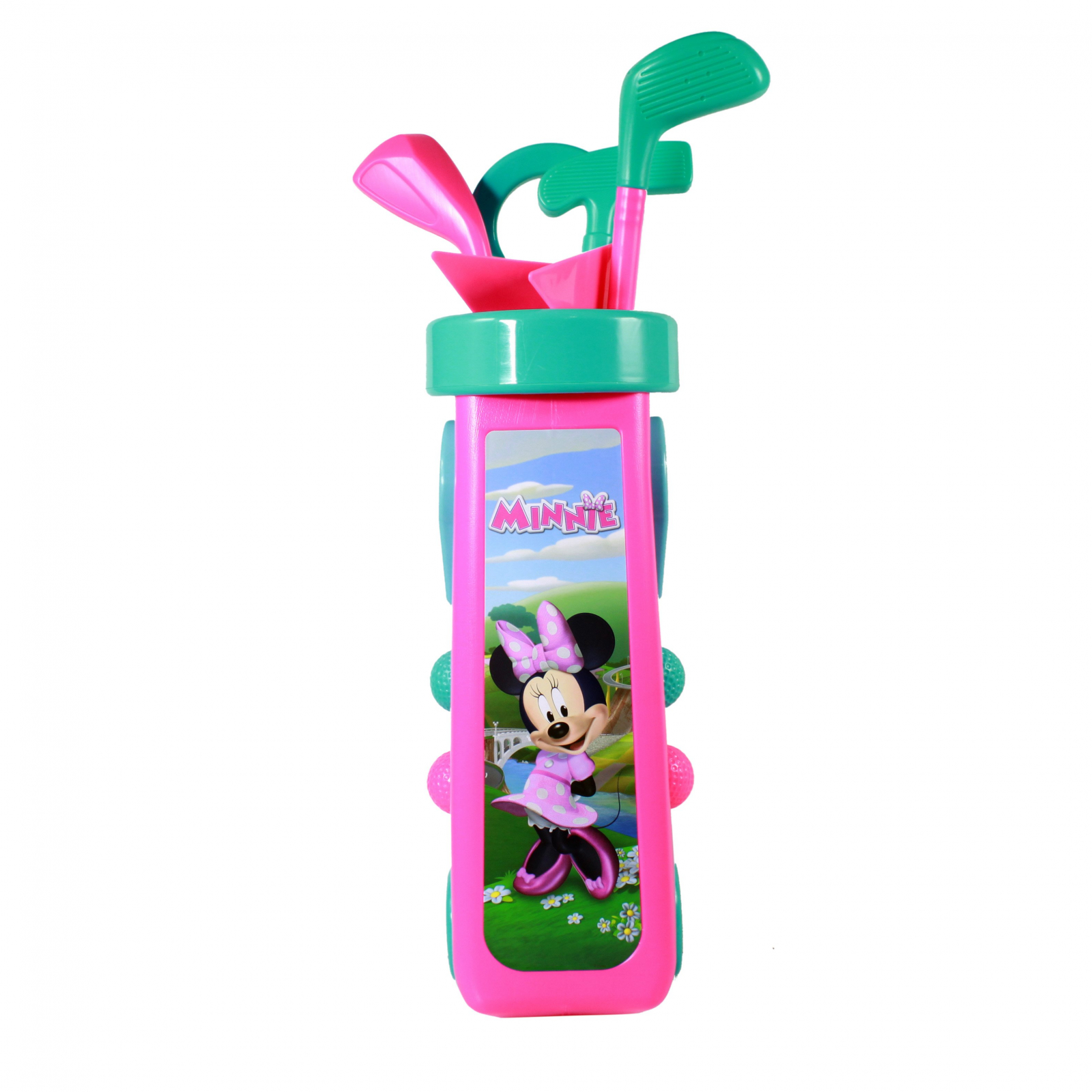 Disney Minnie Mouse Kids Golf Caddy Play Set 10 Pieces