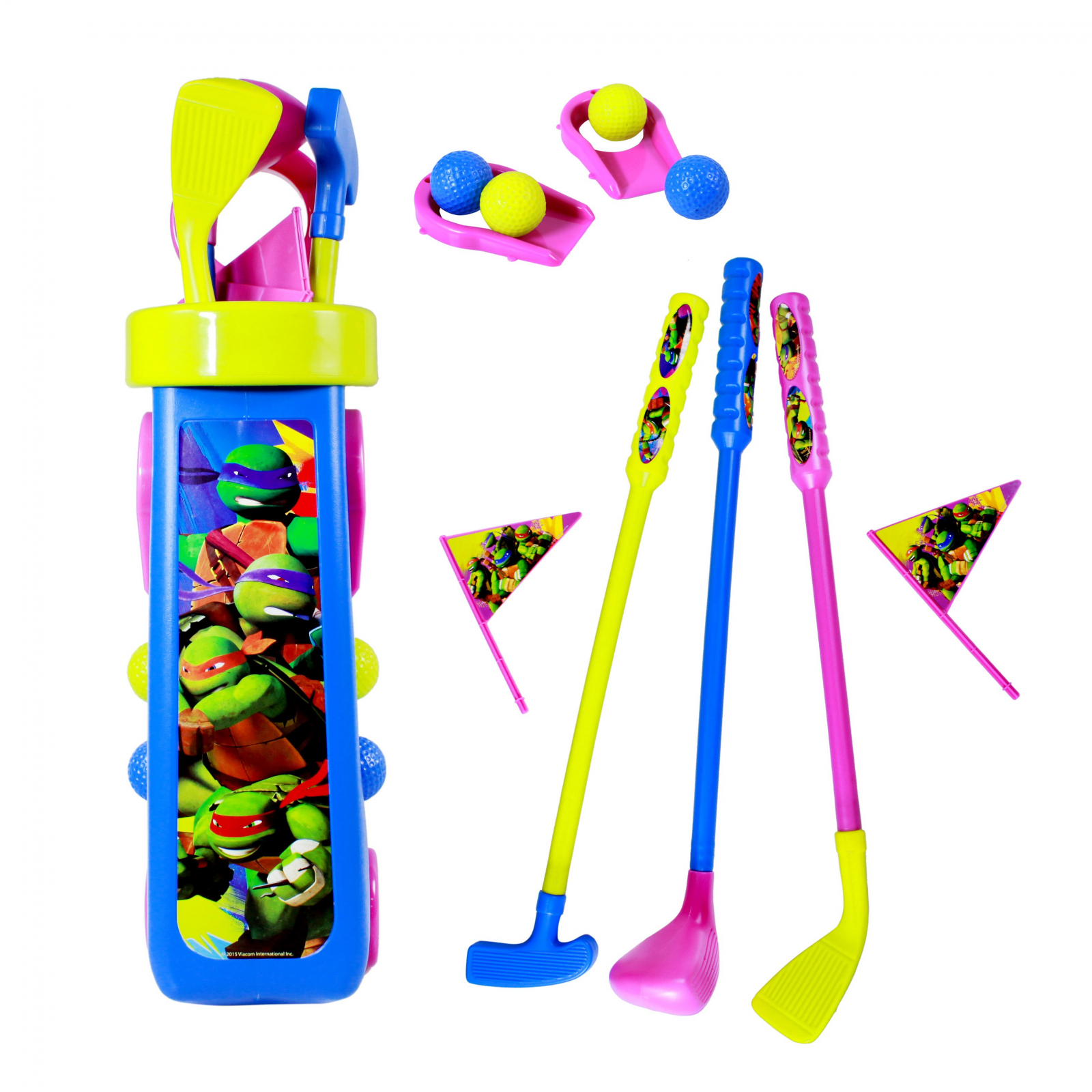 Nickelodeon TMNT Kids Golf Caddy Play Set 10 Pieces