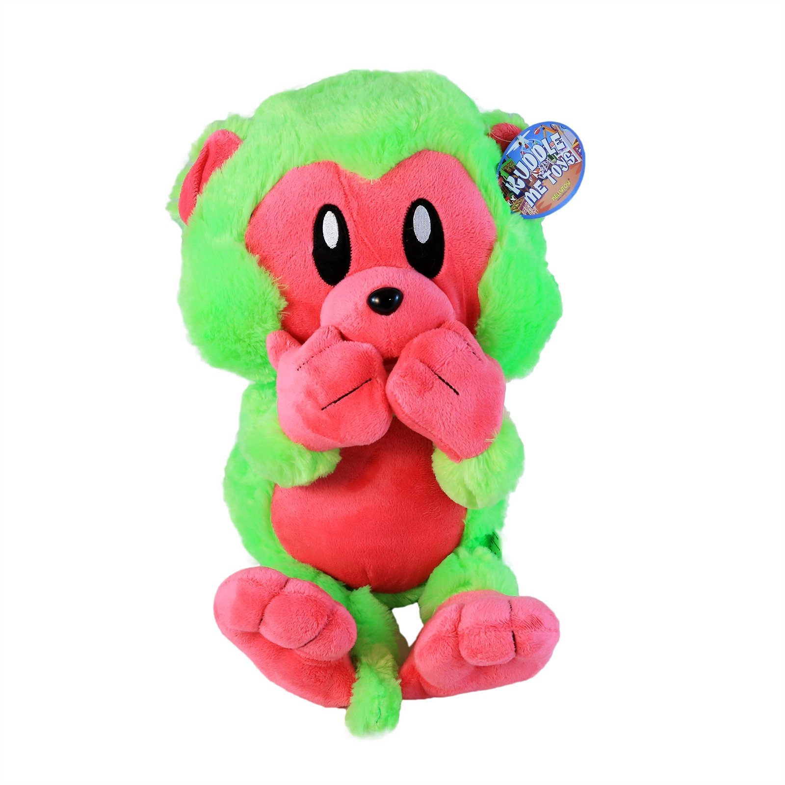 KidPlay Kuddle Toys Speak No Evil Plush Monkey Stuffed Animal Gift - Green