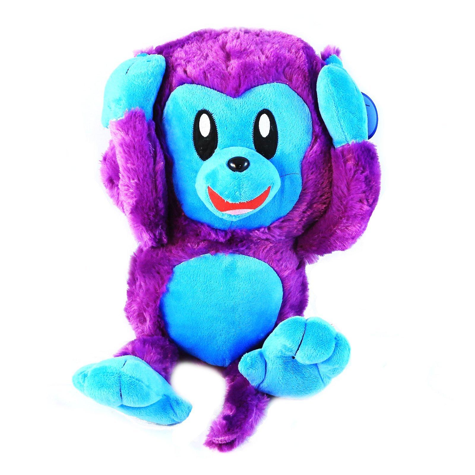 KidPlay Kuddle Toys Hear No Evil Plush Monkey Stuffed Animal Gift - Purple