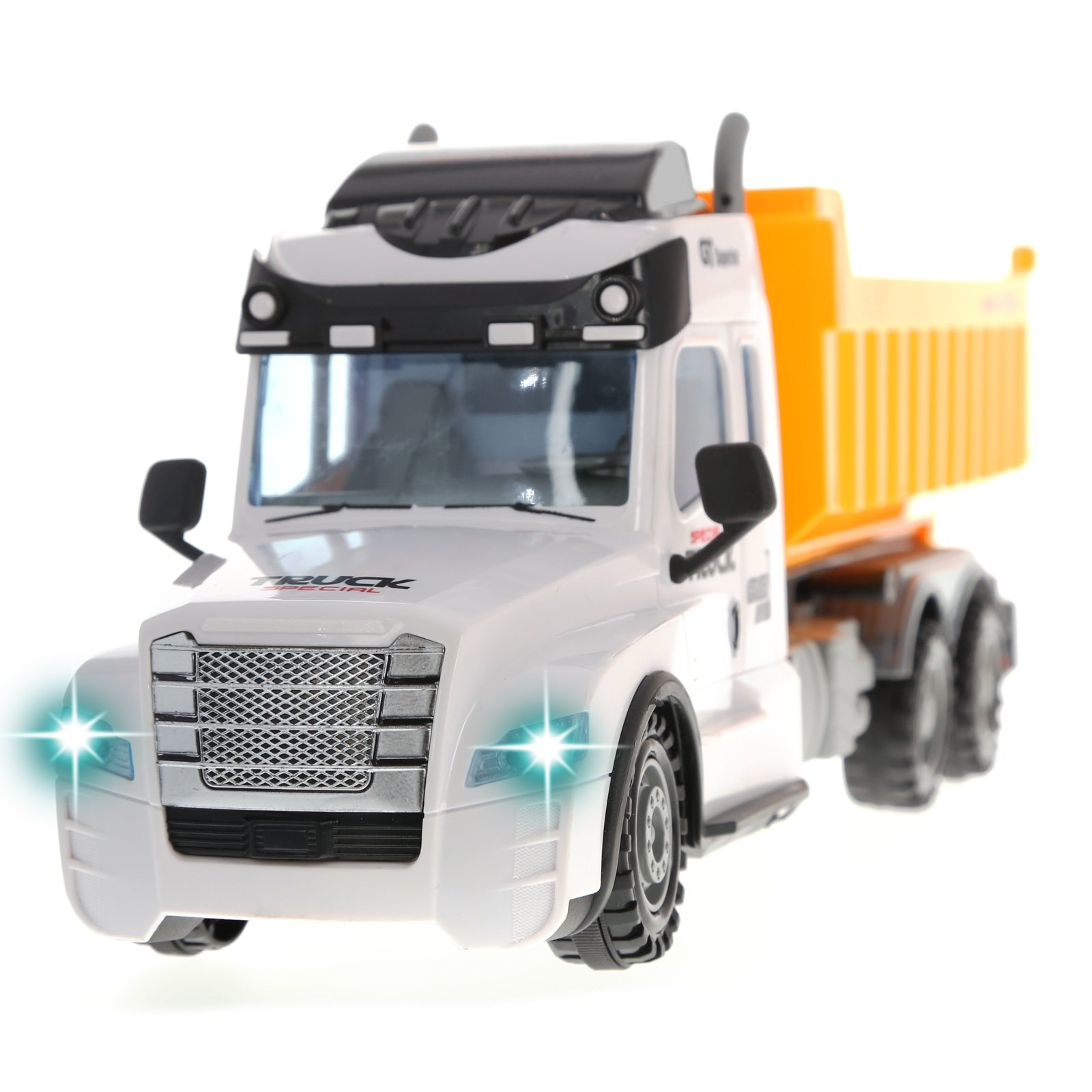 Kidplay RC Remote Control Dump Truck Construction Vehicle Light Up Kids Toy