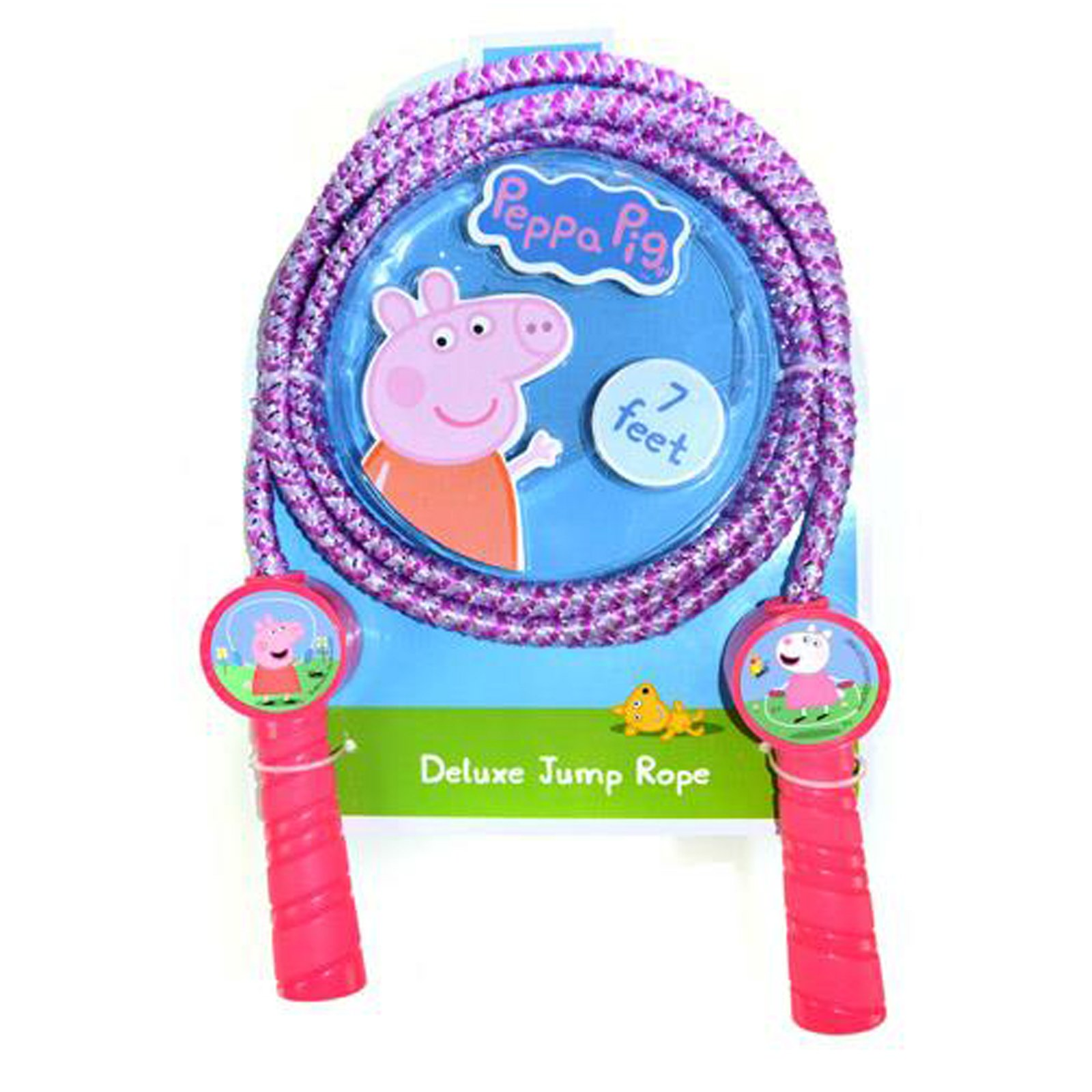Peppa Pig Deluxe Jump Rope Molded Handles 7 Feet Promotes Exercise - Pink