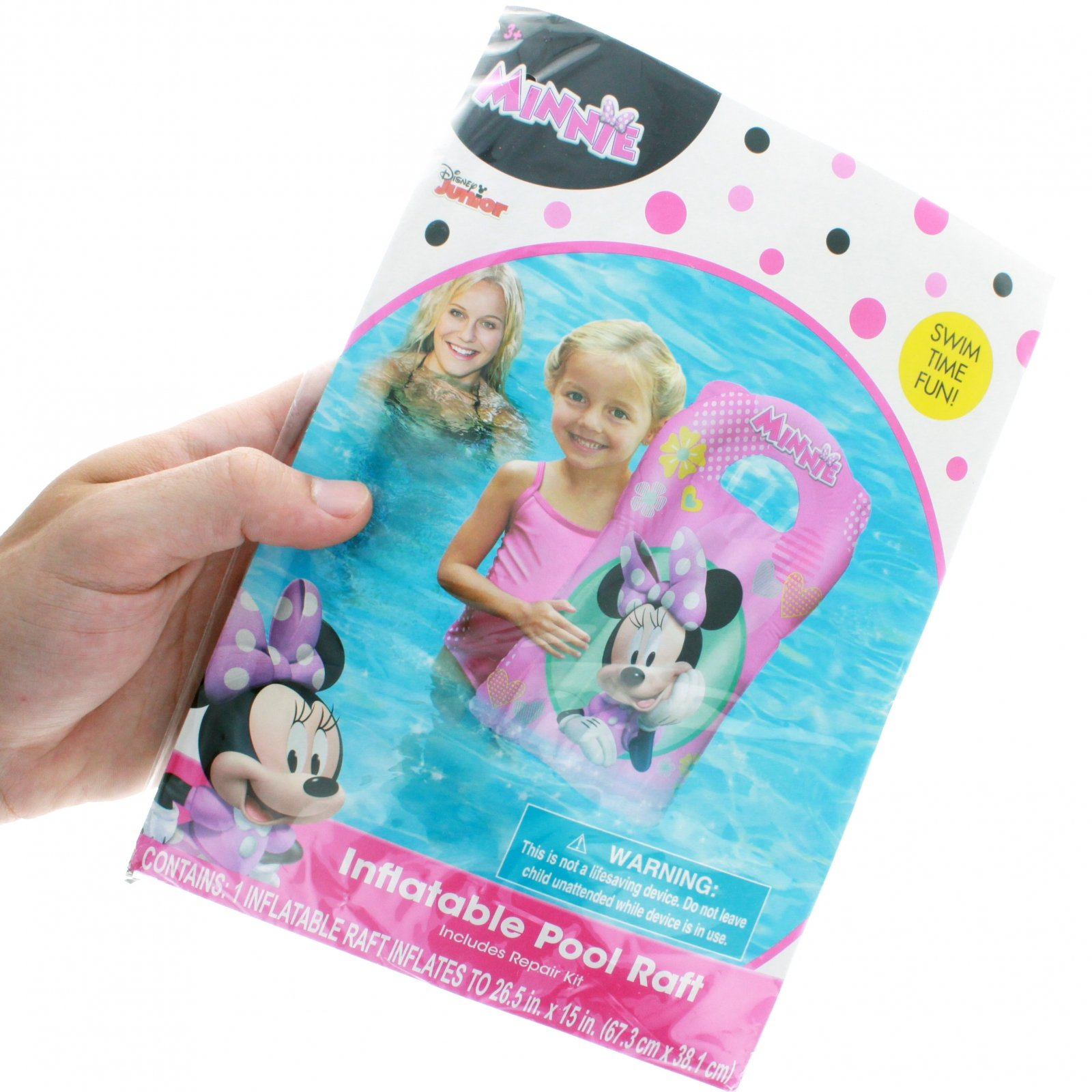 Minnie Mouse 15 x 26 Kids Inflatable Pool Float Water Raft