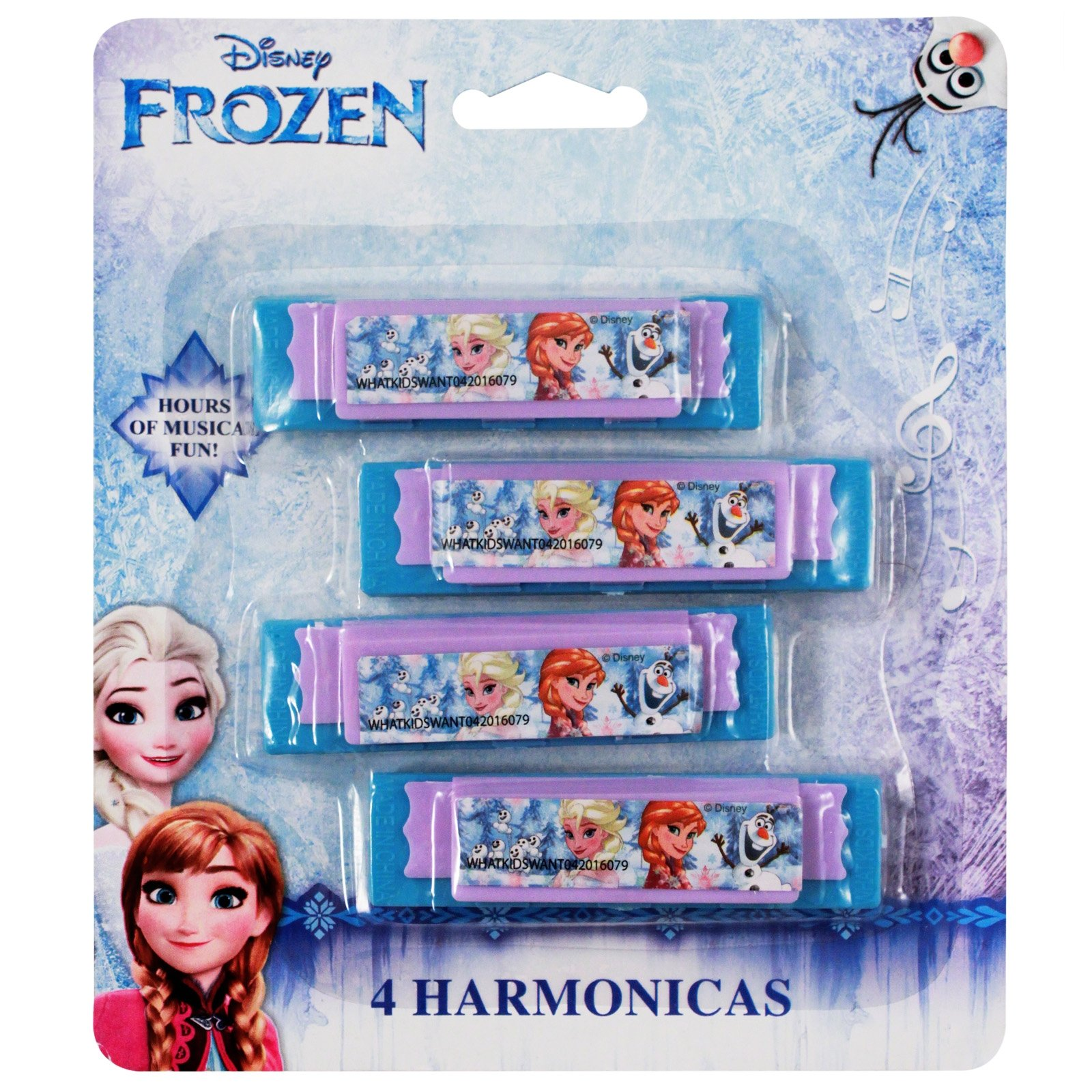 Disney Frozen Princess Elsa and Anna Mini Harmonica Music Instrument Toy 4pk