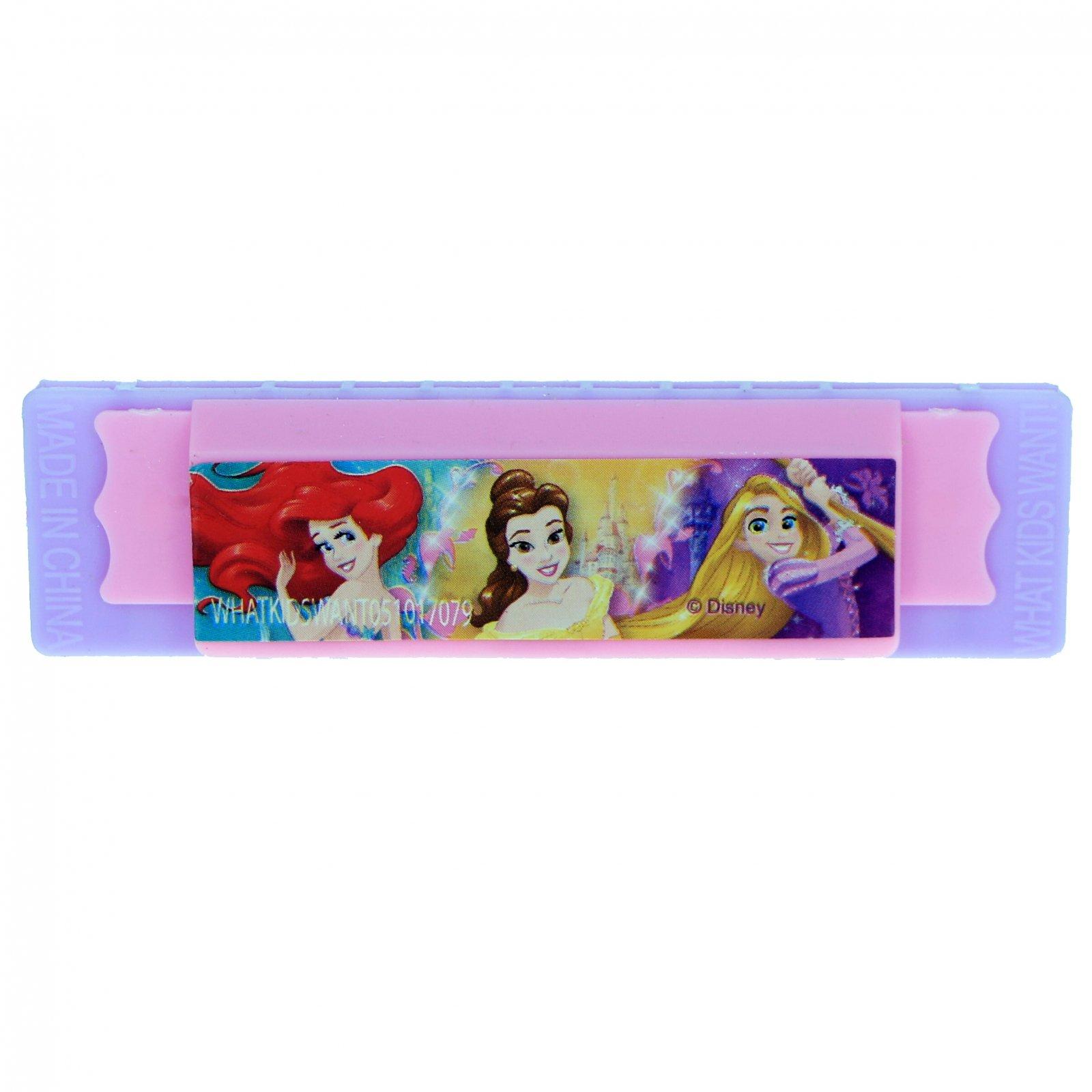 Disney Princess Girls Mini Harmonicas Kids Musical Instrument Toys - 4 Pack