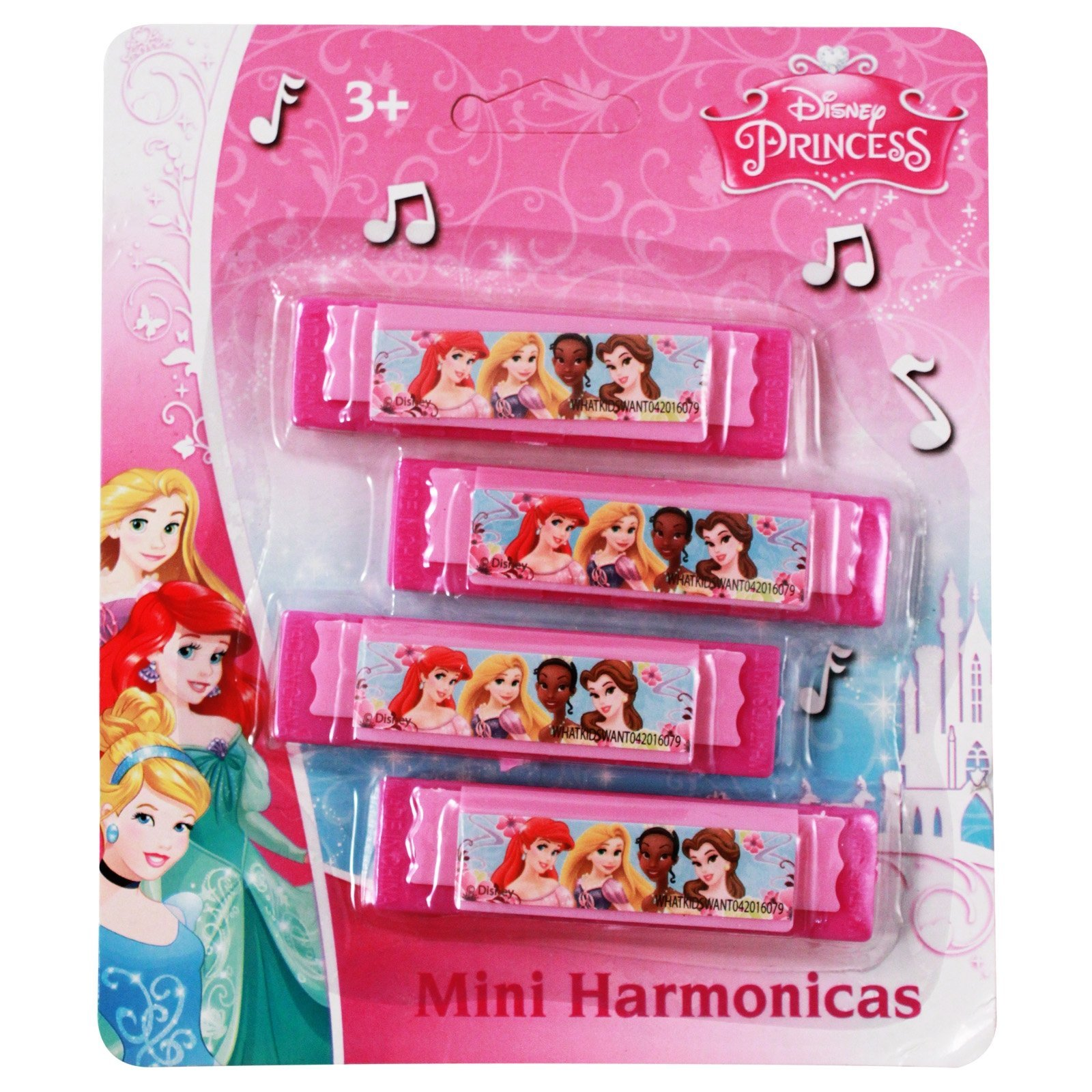 Disney Princess Mini Harmonica Music Instrument 4pk