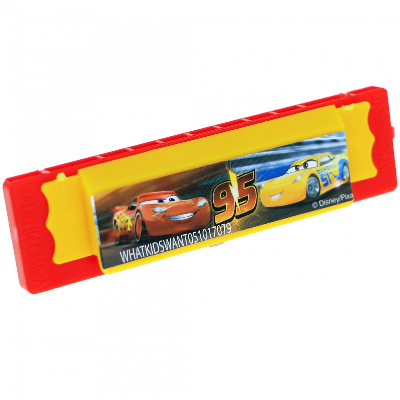 Disney Pixar Cars 3 Mini Harmonicas Kids Musical Instrument Toys 4 Pack - Red