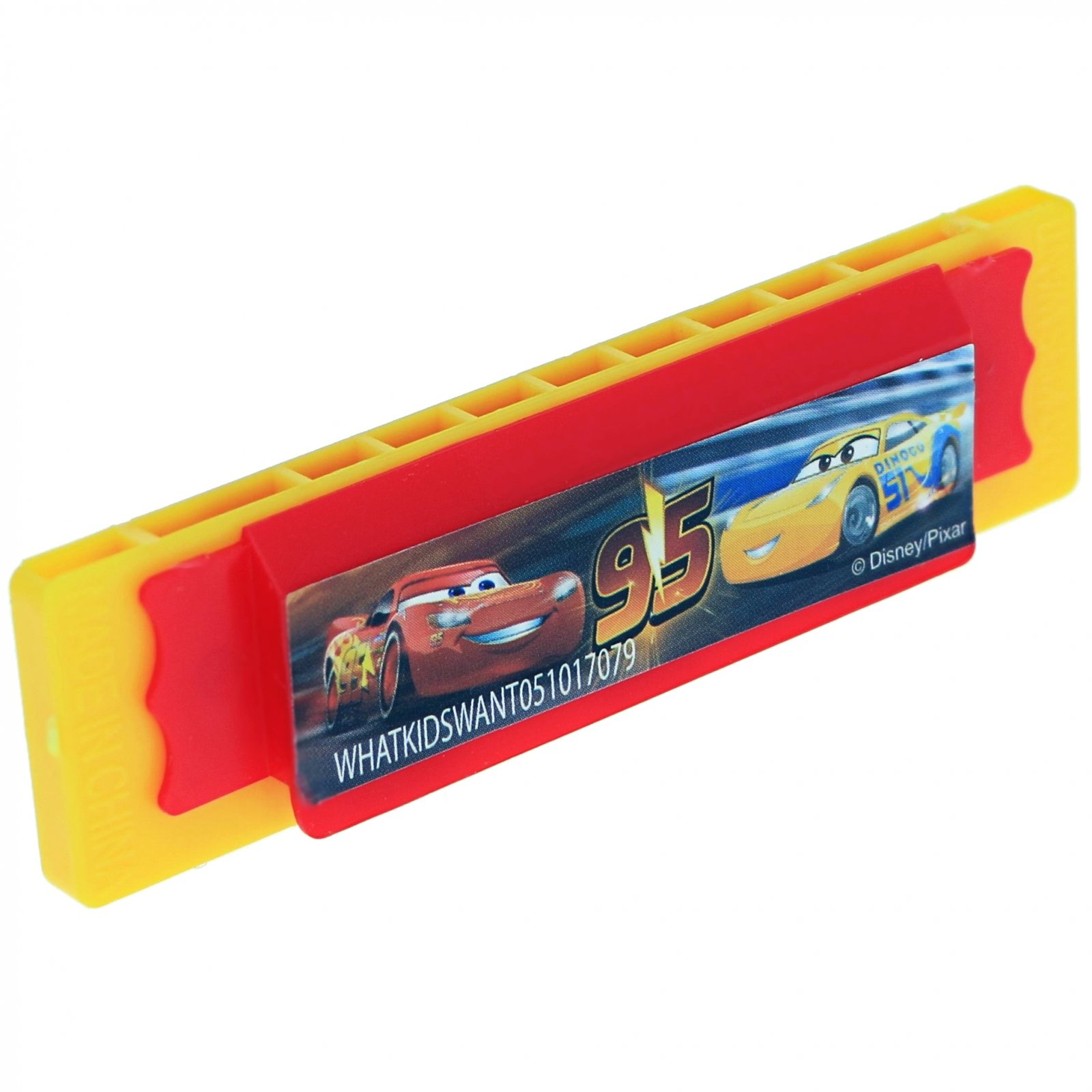 Disney Pixar Cars 3 Mini Harmonicas Kids Musical Instrument Toys 4 Pack - Yellow