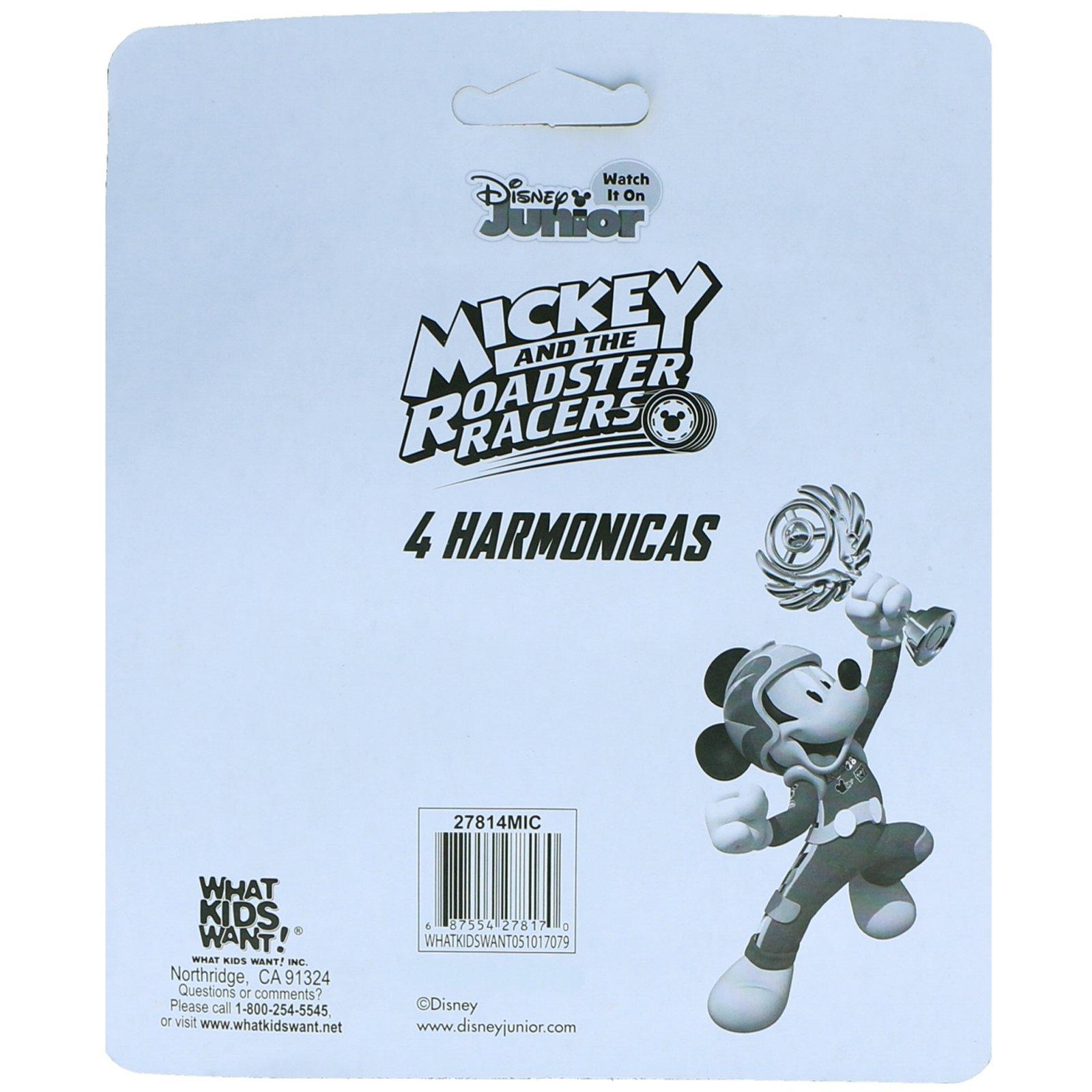 Disney Mickey Mouse Boys Mini Harmonicas Kids Musical Instrument Toys - Red