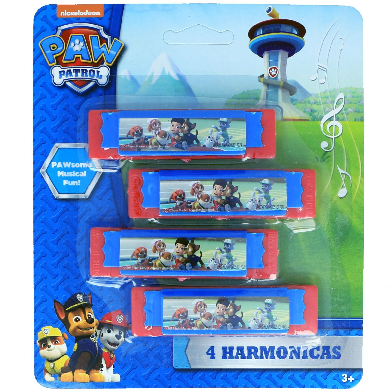 Nickelodeon Paw Patrol Boys Mini Harmonicas Kids Musical Instrument Toys - Red