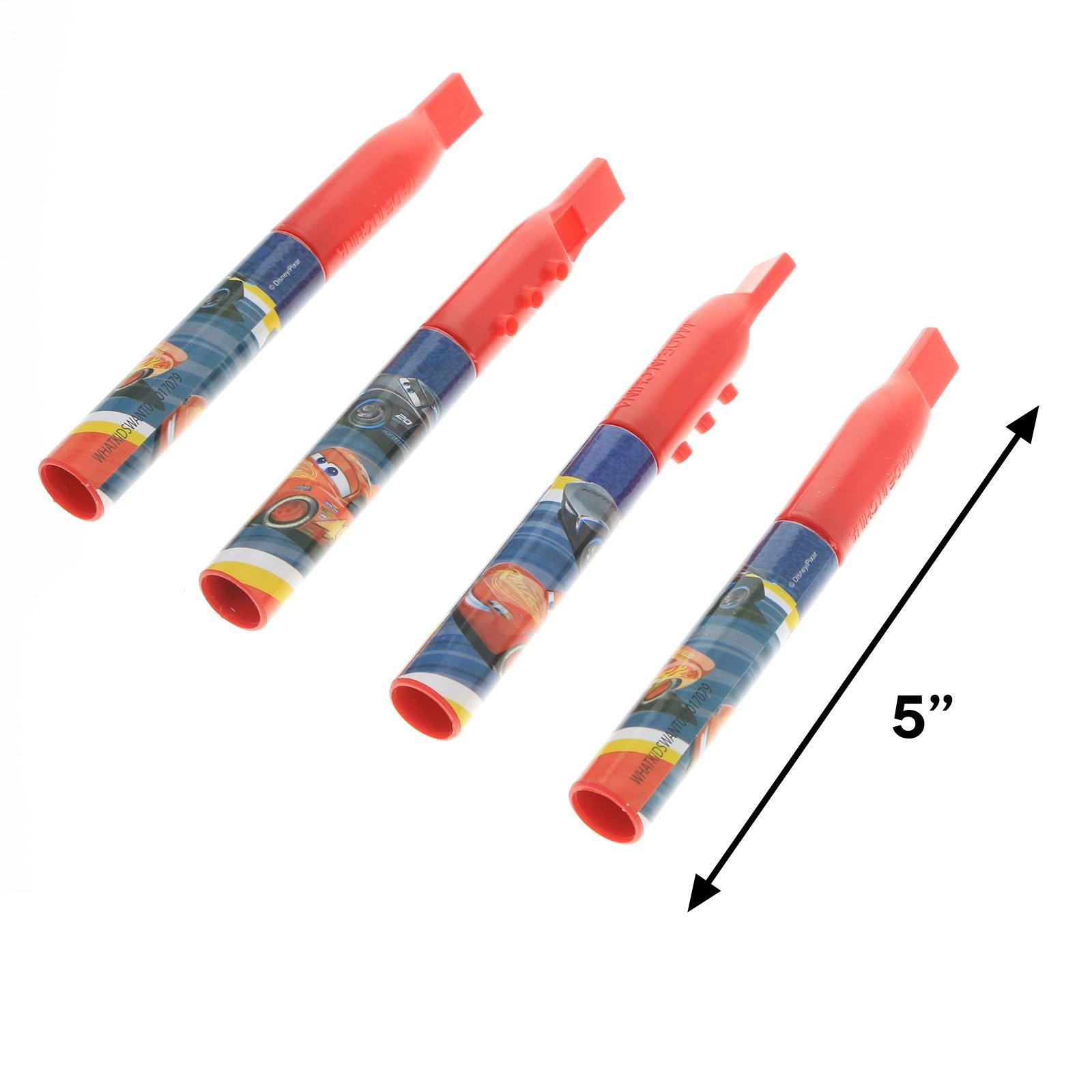 Disney Pixar Cars 3 Mini Flute 4 Pack Kids Musical Instrument Toy - Red