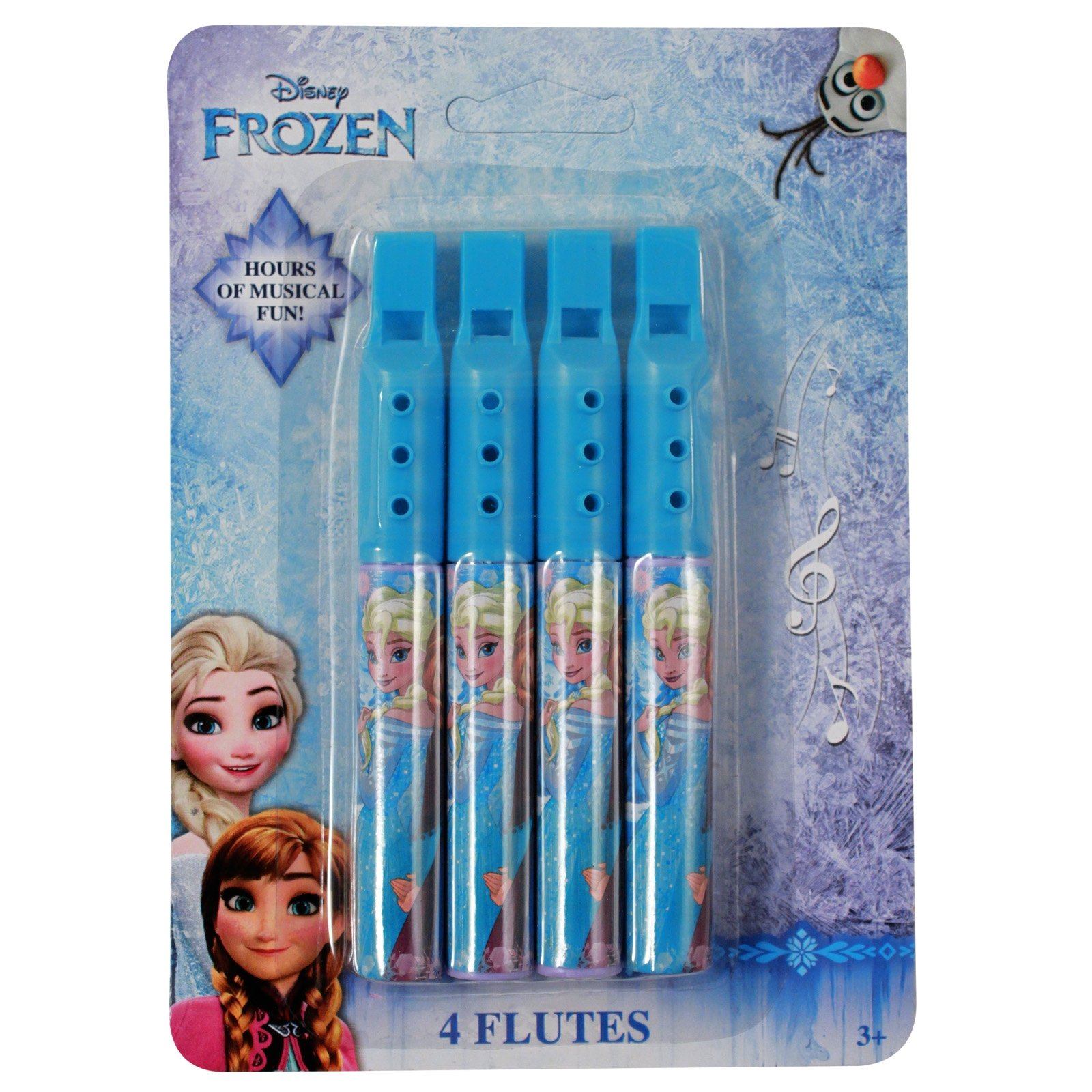 Disney Frozen Princess Elsa and Anna Mini Flute 2 Pack Music Instrument Toy