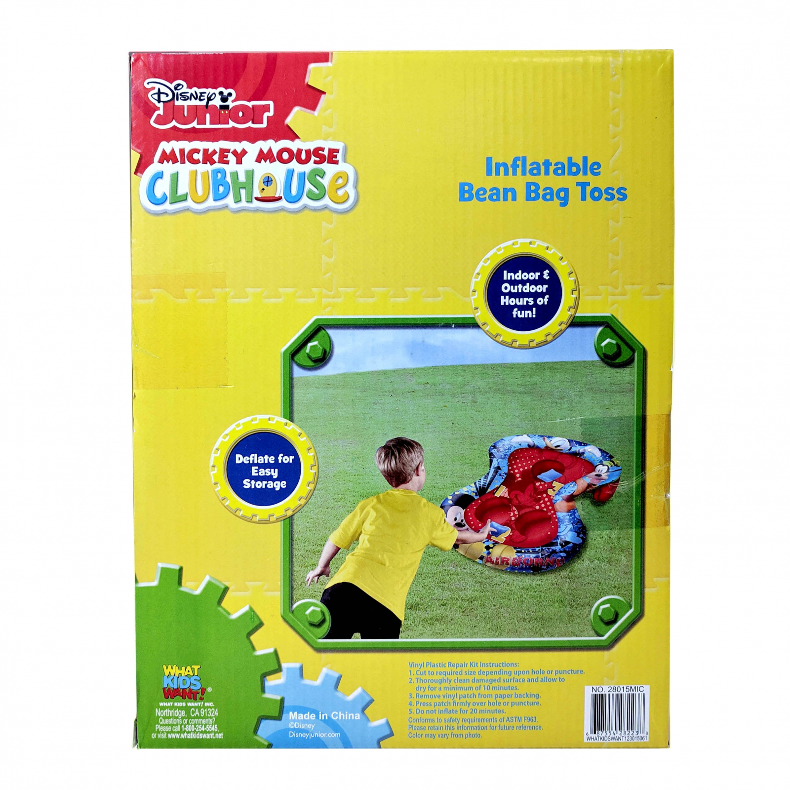 Mickey Mouse Clubhouse Inflatable Bean Bag Toss Game