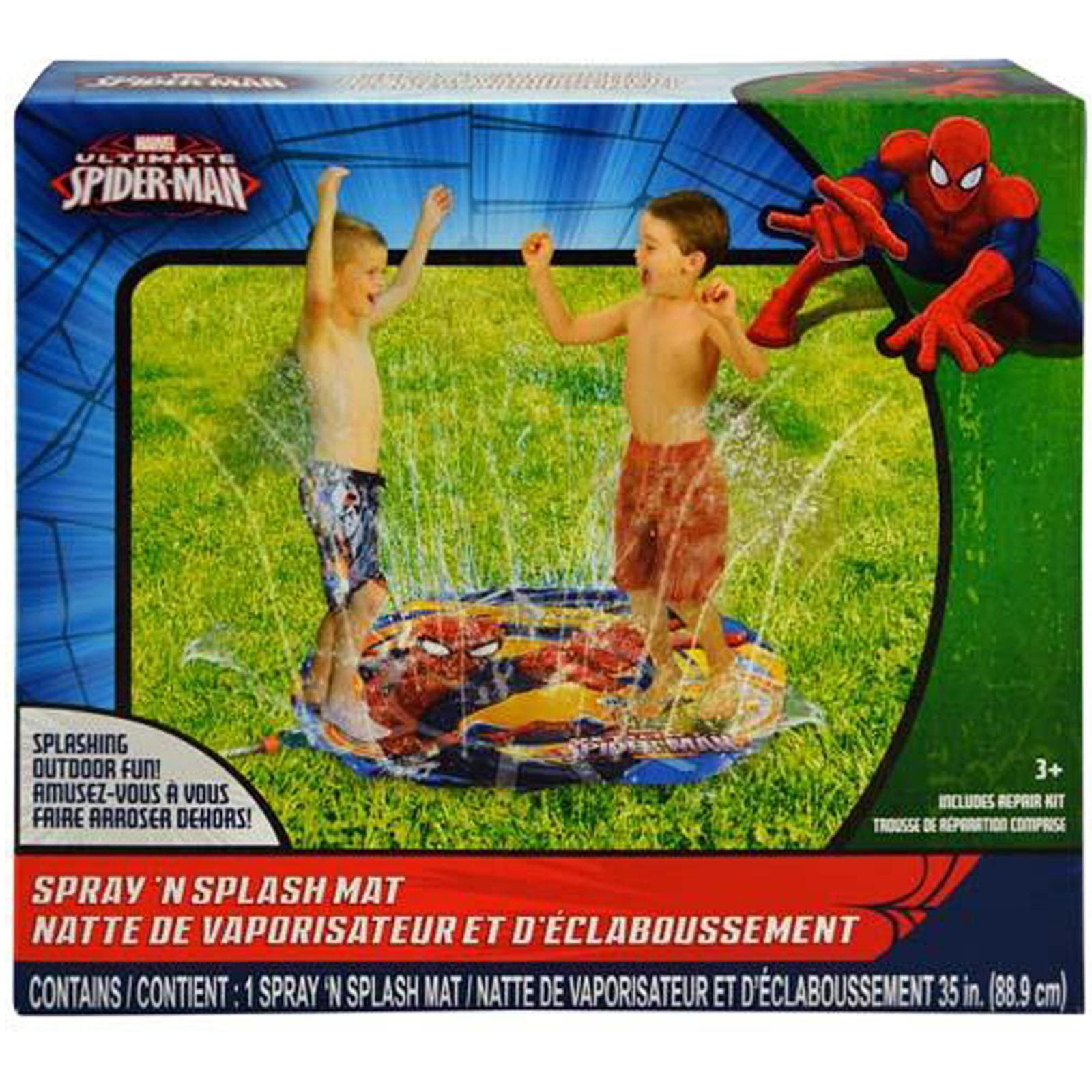 Marvel Spiderman Water Sprinkler Spray N Splash Mat Summer Game