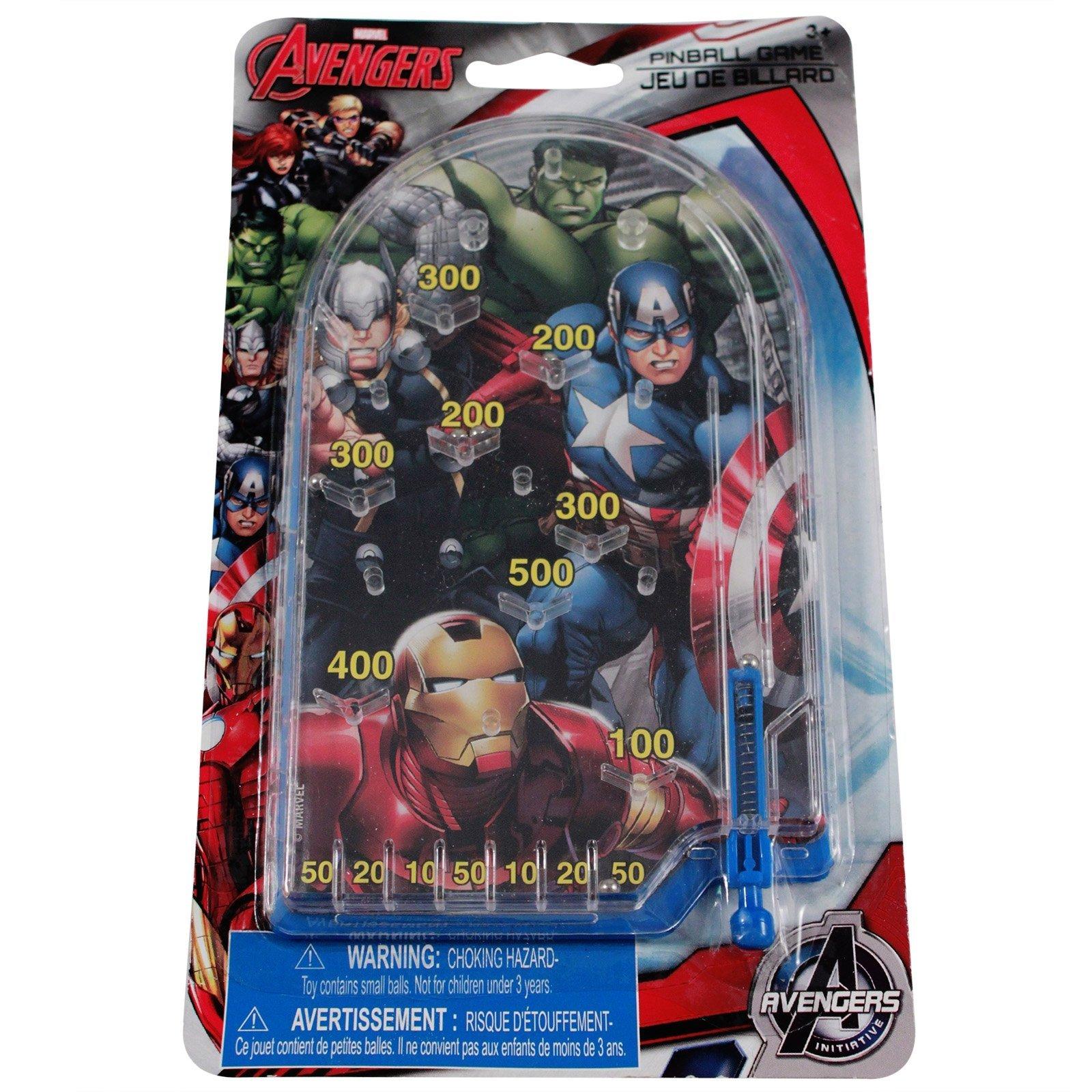 Marvel Avengers Miniature Handheld Pinball Game Boys Themed Birthday Party Favors