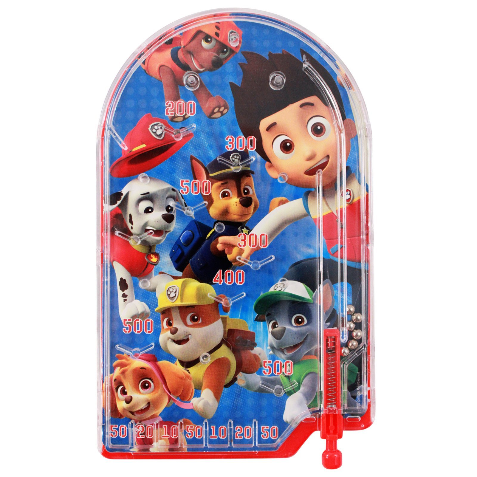 Nickelodeon Paw Patrol Miniature Handheld Pinball Game Boys or Girls Themed Birthday Party Favors, Travel Game