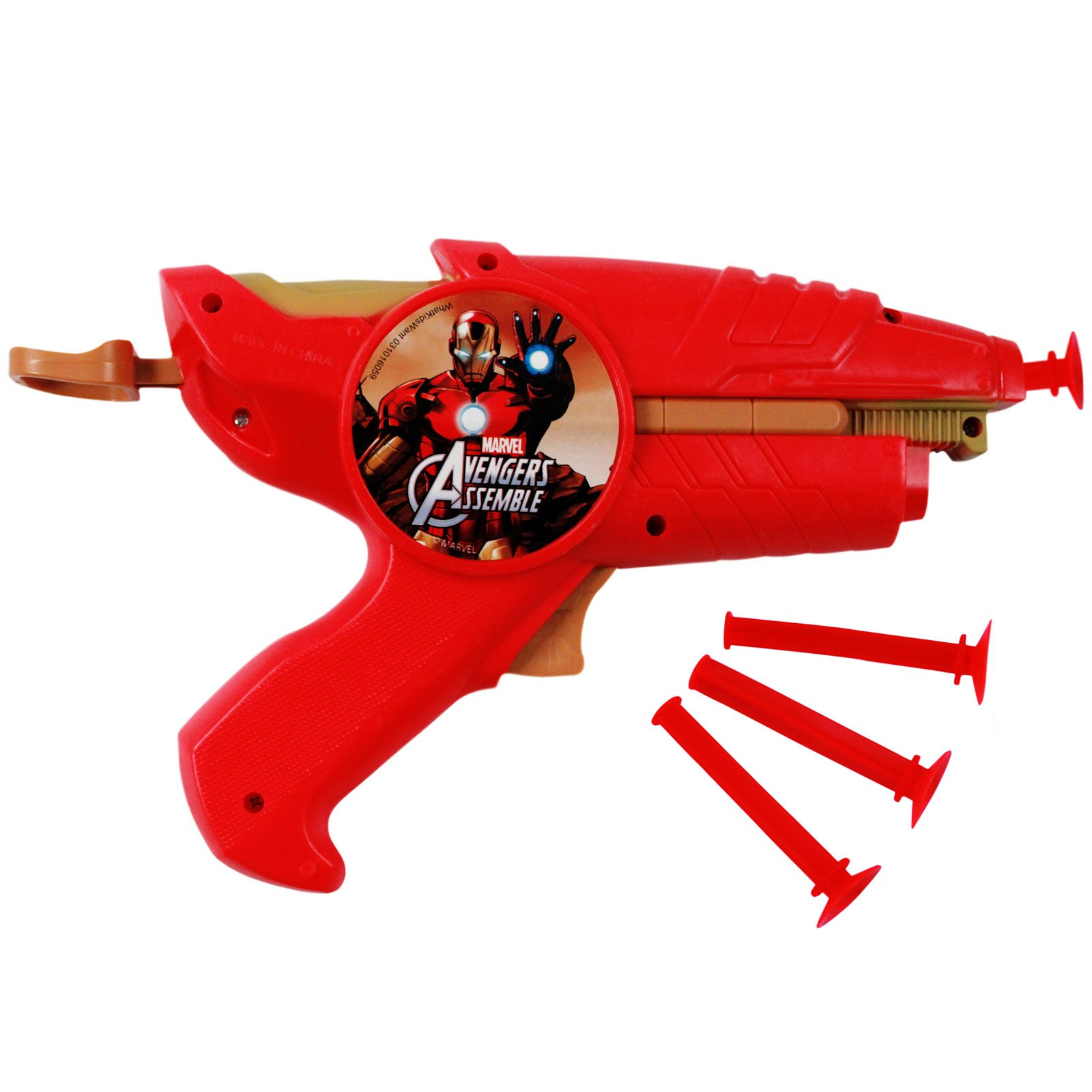 Marvel Comics Avengers Assemble Iron Man Dart Gun Blaster Toy Combo Pack