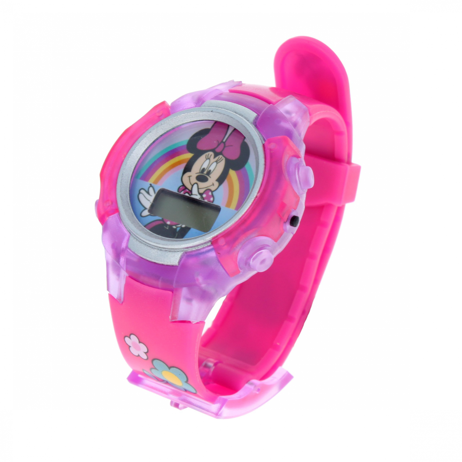 Minnie Mouse Adjustable Light Up Flashing LCD Wrist Watch