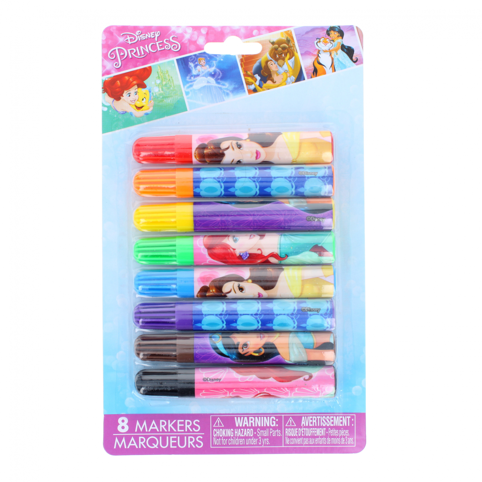 Disney Princess Licensed Art 8pc Kids Mini Felt Marker Set