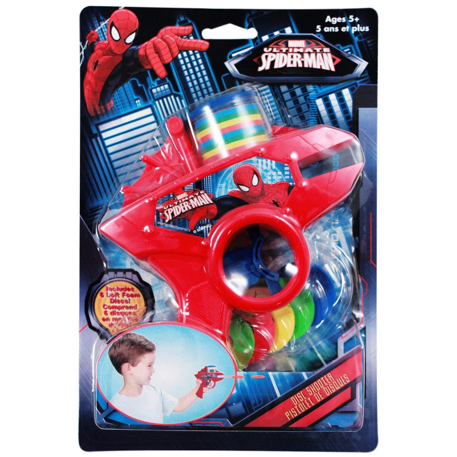 Marvel Comics Spiderman Foam Disc Shooter Gun