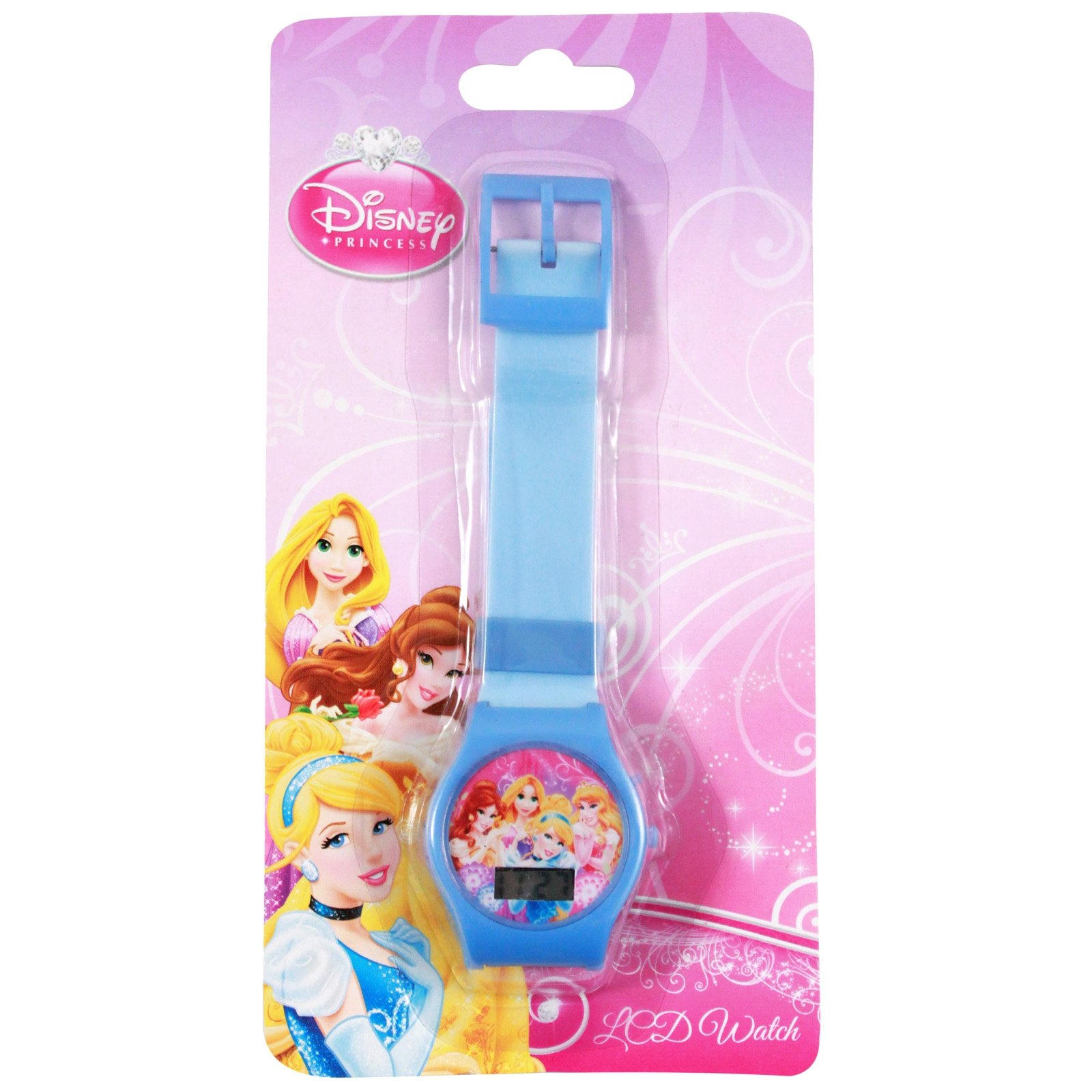 disney princess childrens wrist watch digital quartz adjustable blue belle ariel aurora cinderella snow white rapunzel