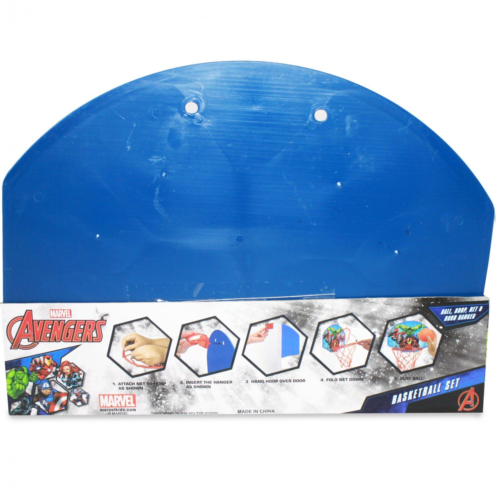 "Kids Basketball Set ""Ball, Hoop, Net & Door Hanger"" Avengers"