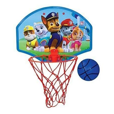 Nickelodeon Paw Patrol Kids Basketball Set Hoop Net Ball