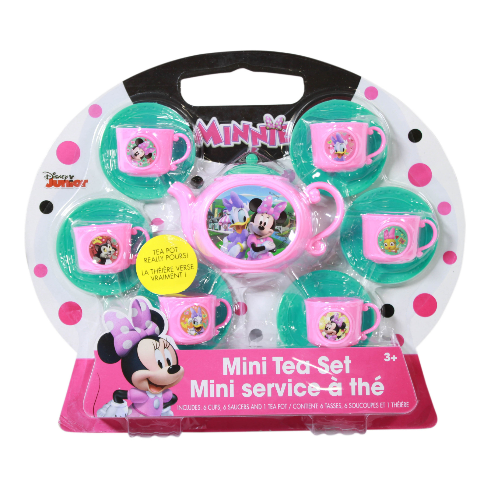 Disney Minnie Mouse Girls Mini Tea Party Pretend Play Set