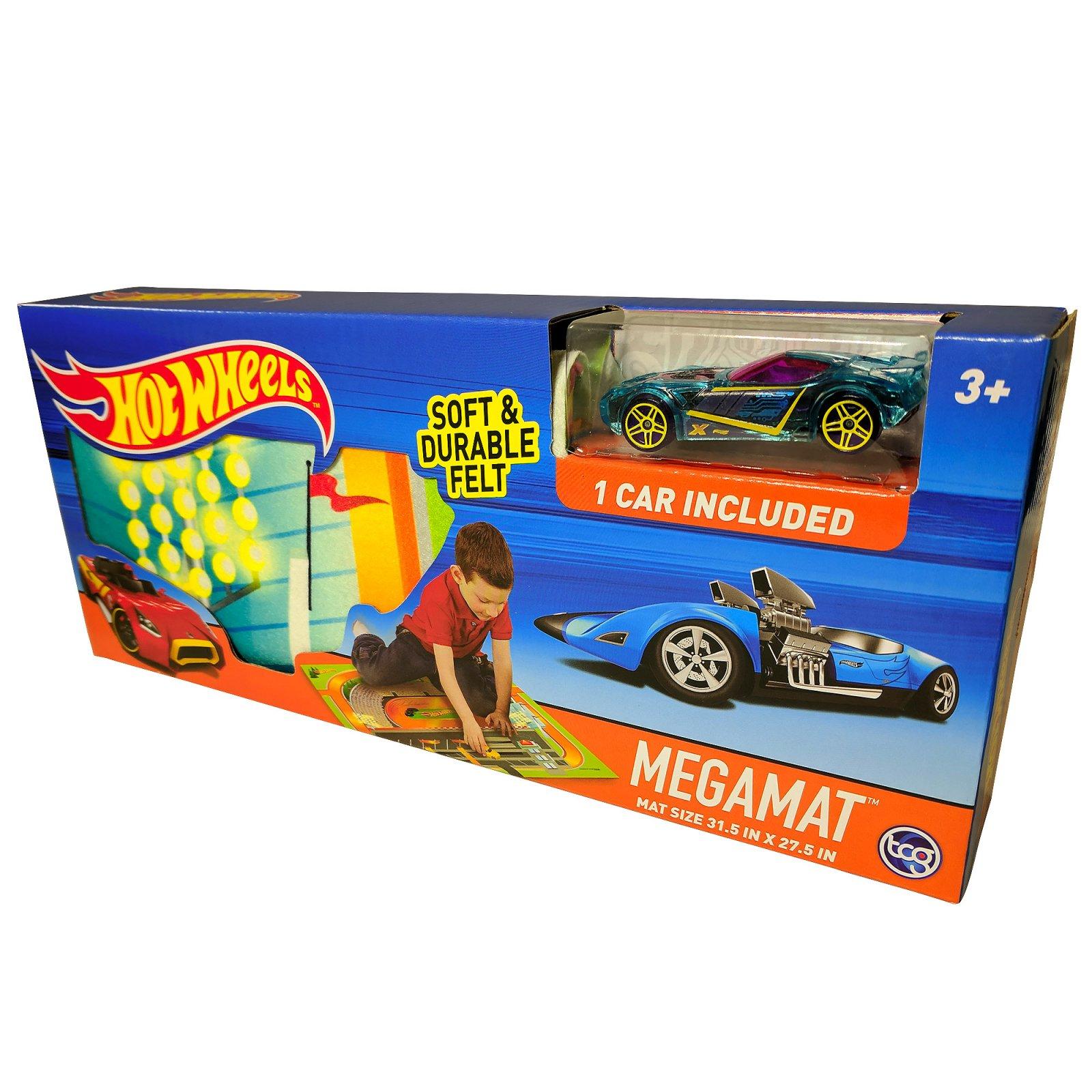 Hot Wheels Felt Mega Playmat with Vehicle