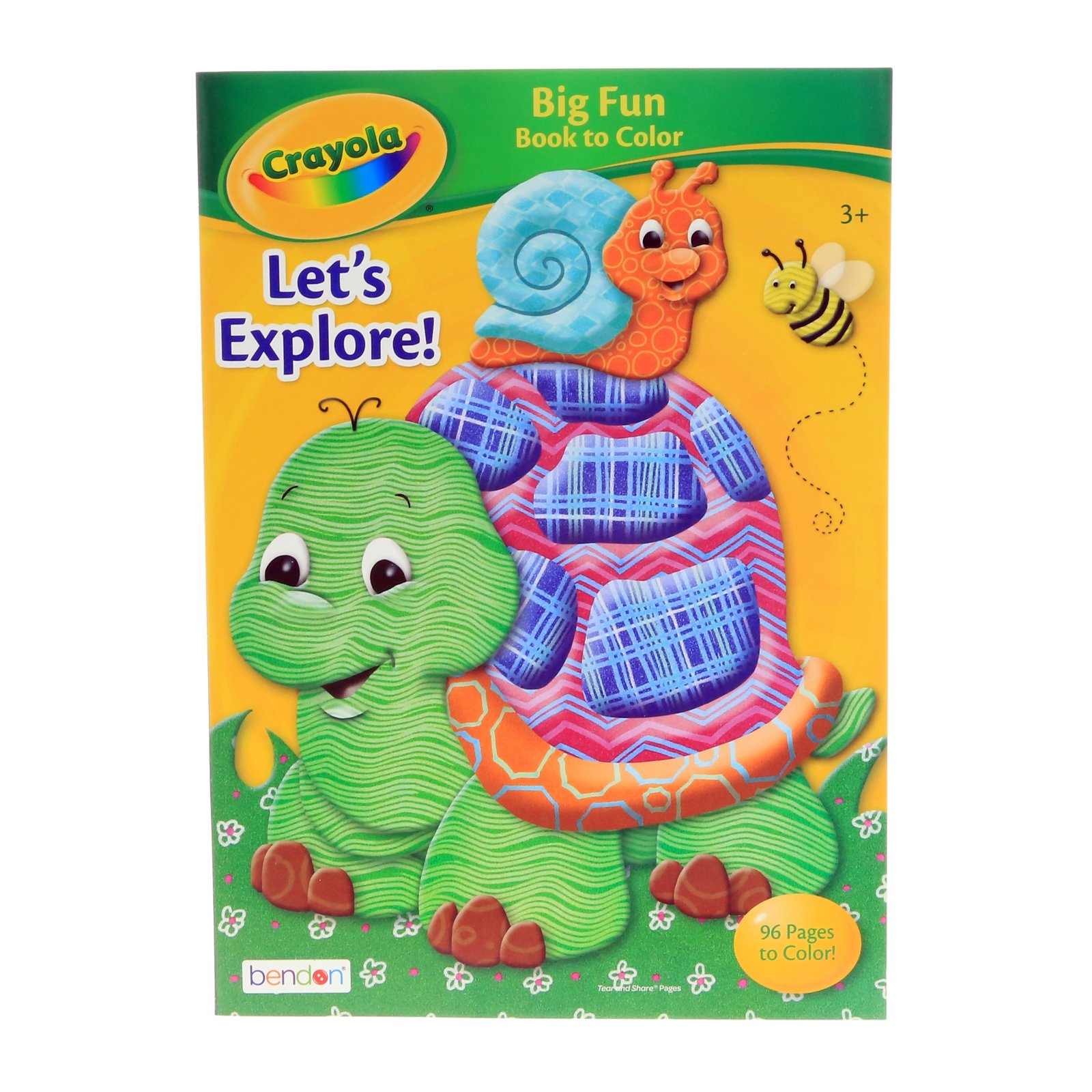 Crayola Kids Big Fun Coloring Book 96 Pages Childrens Art Supplies - Turtle