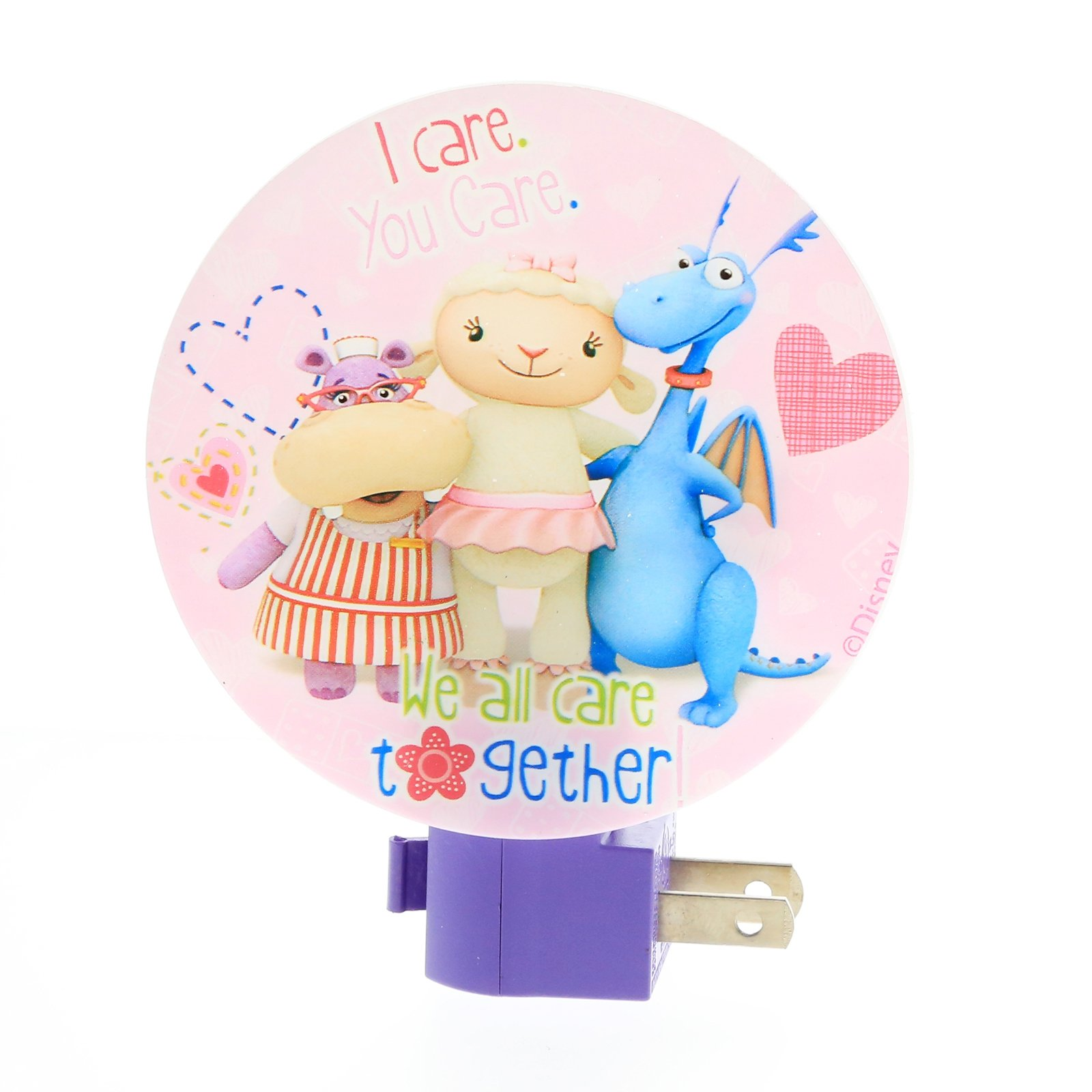 Disney Doc McStuffins Girls Night Light Kids Bedroom Home Decor - Pink