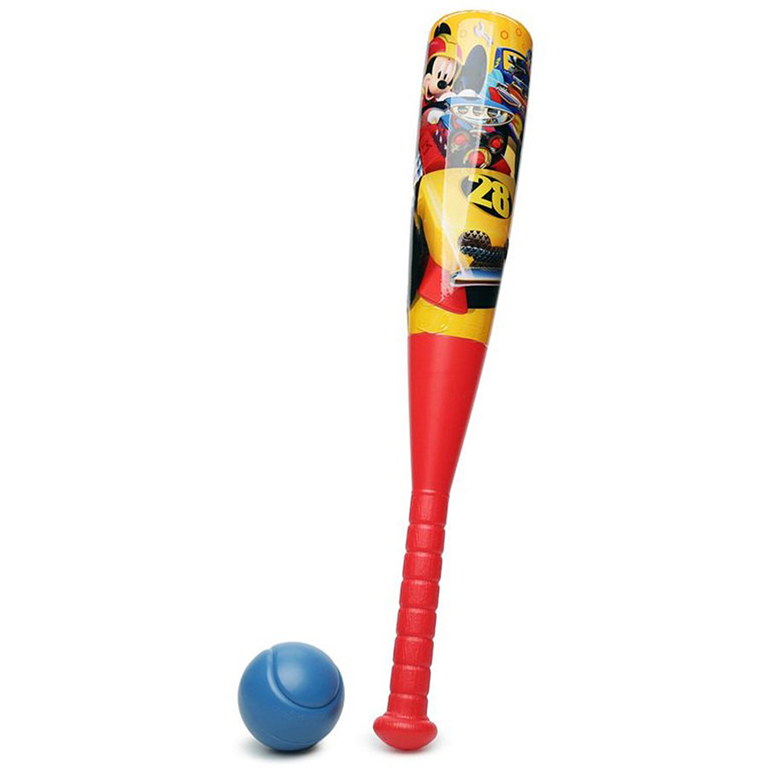 Disney Mickey Mouse Roadsters Baseball and Bat Set