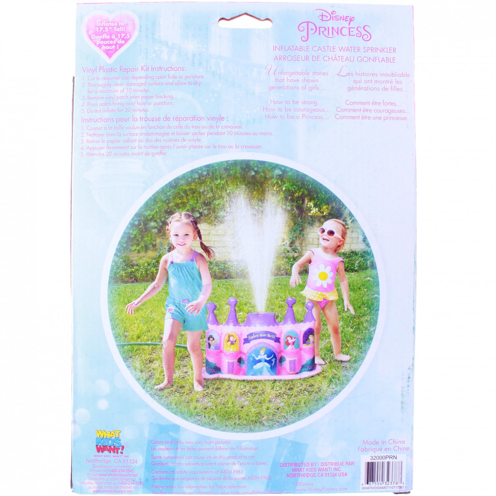 Disney Princess Inflatable Water Sprinkler Castle