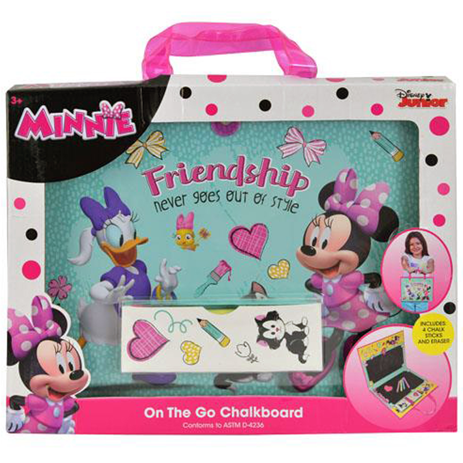 Disney Minnie Mouse On-the-Go Chalkboard Art Activity Creativity Amusement Set