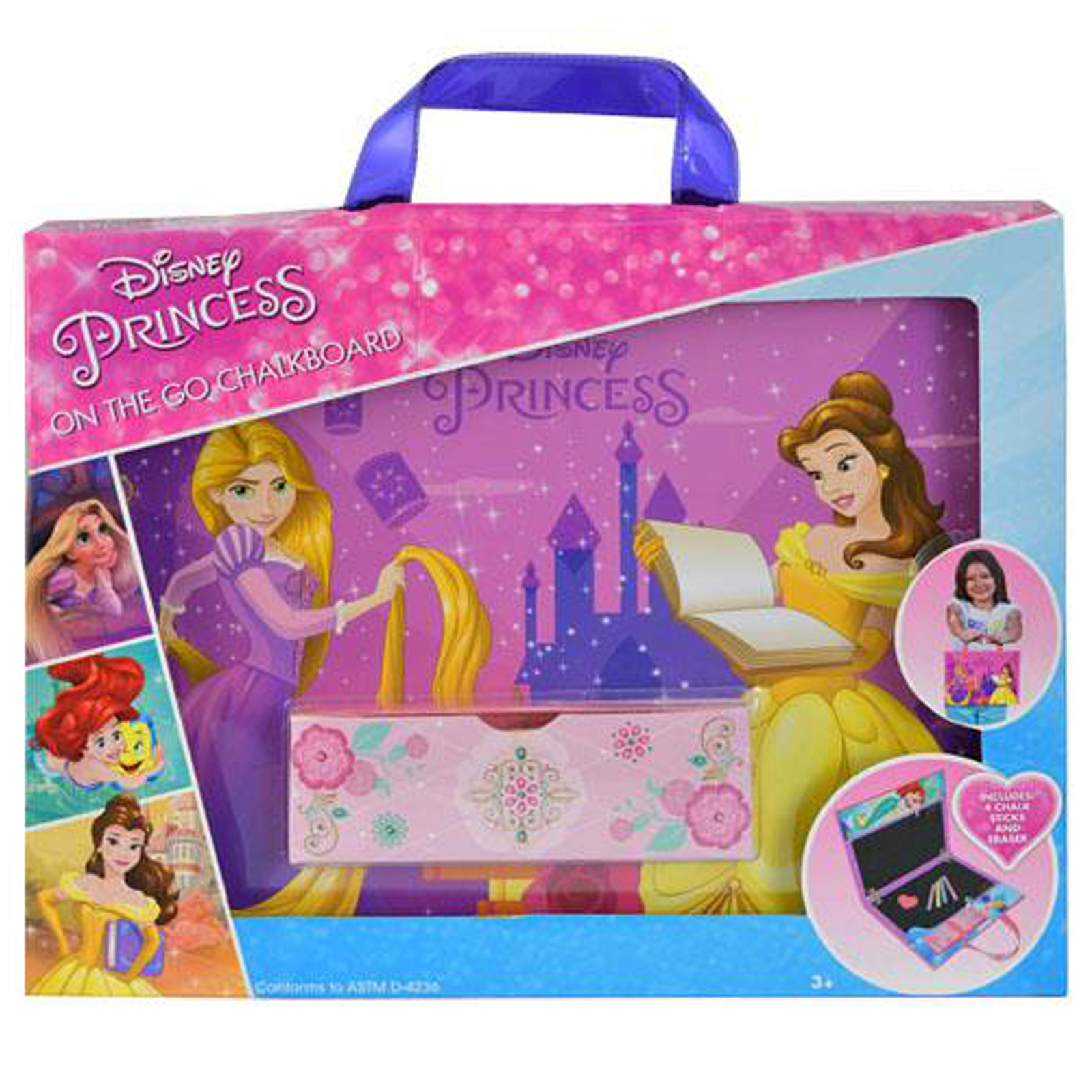 f4f3a372d6f Disney Princess On-the-Go Chalkboard Art Activity Creativity Amusement Set