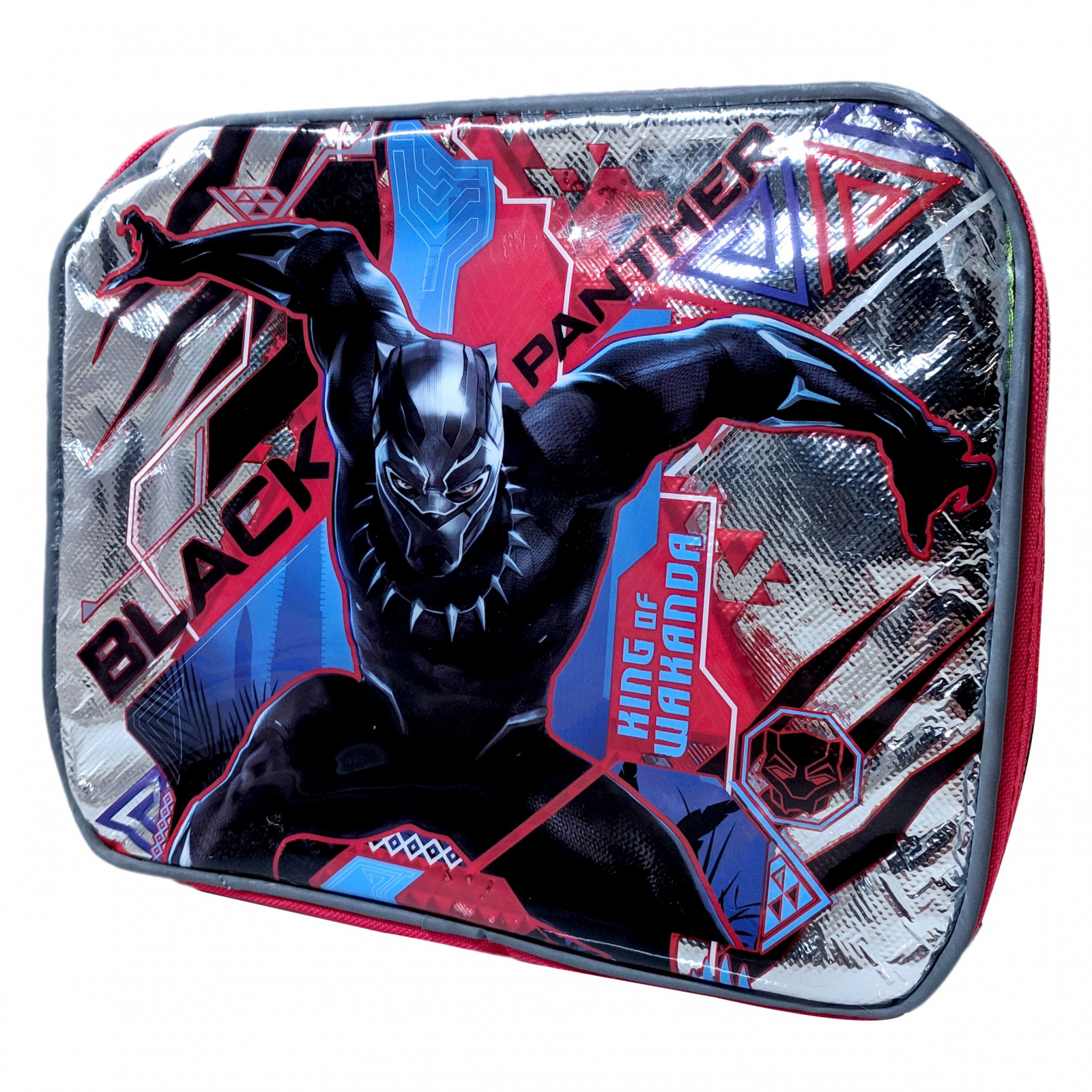 TychoTyke Reflective Black Panther Rectangle Lunch Box Bag