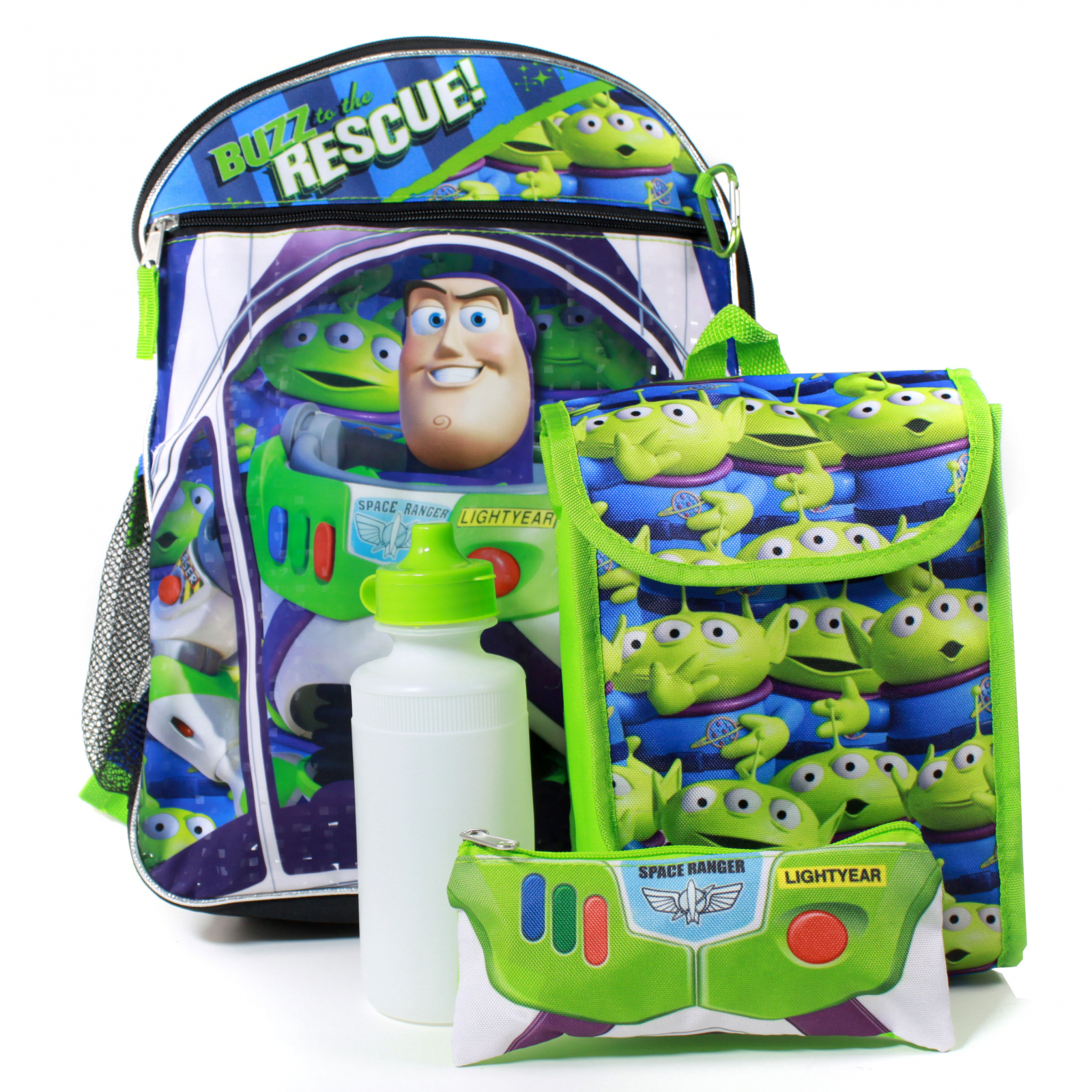 Toy Story Buzz Lightyear Backpack Lunch Box 5 Piece Set