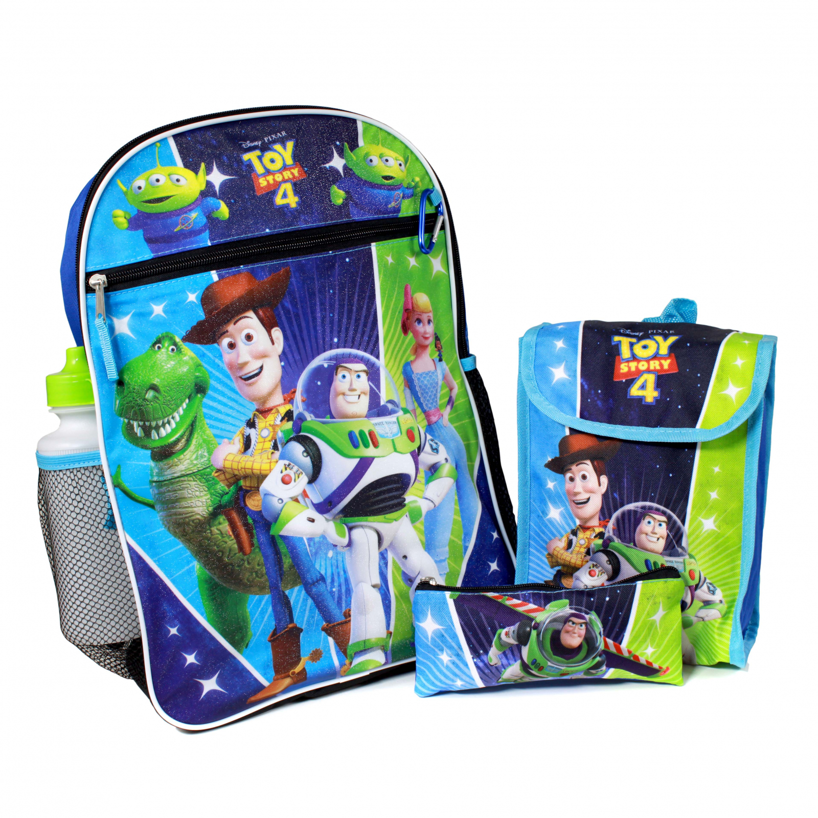 Toy Story 4 5 Piece Kids School Backpack And Lunch Box Set