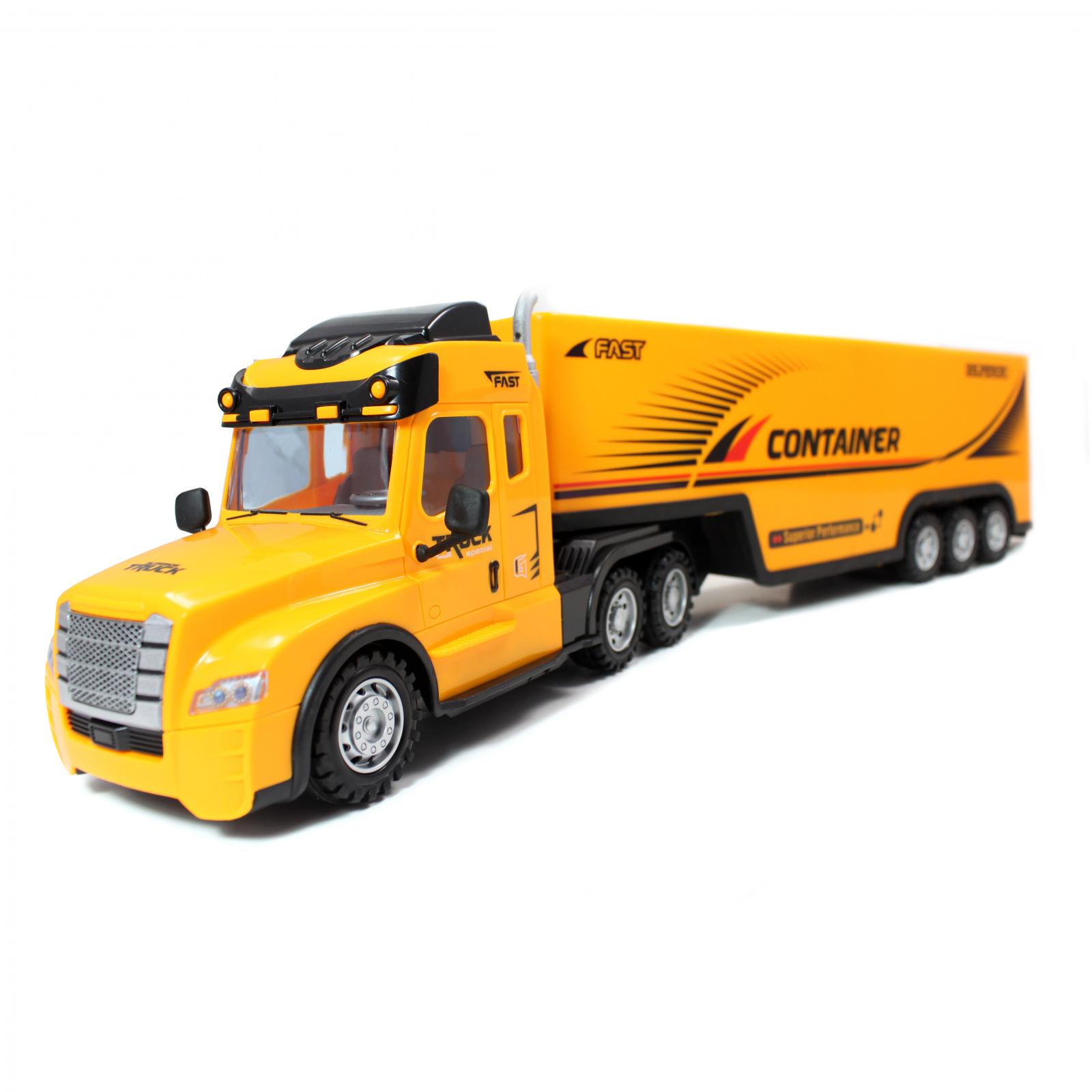 Kidplokio Remote Control Car RC Truck Semi Carrier - Yellow