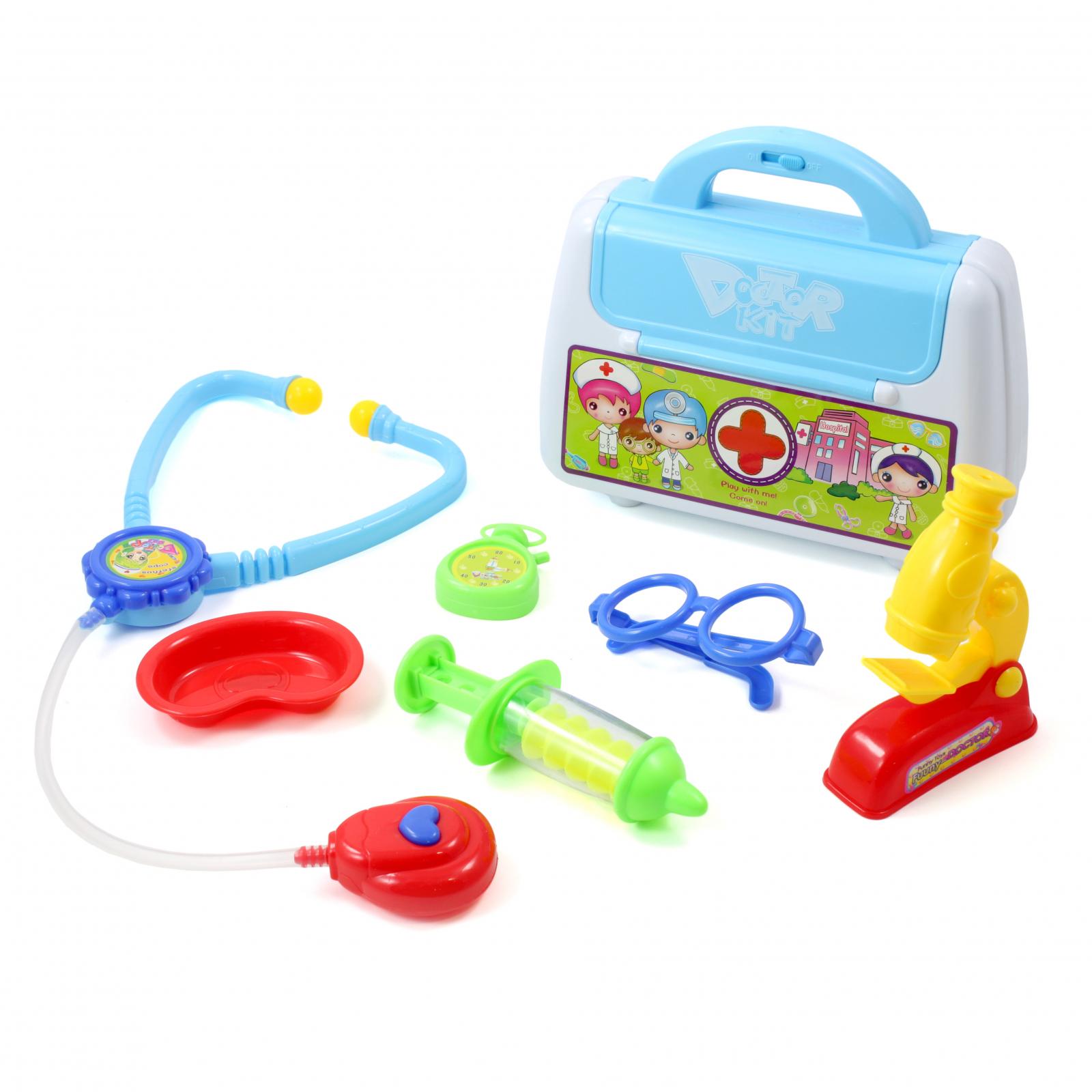 7pc Children's Doctor Equipment Pretend Play Set Blue