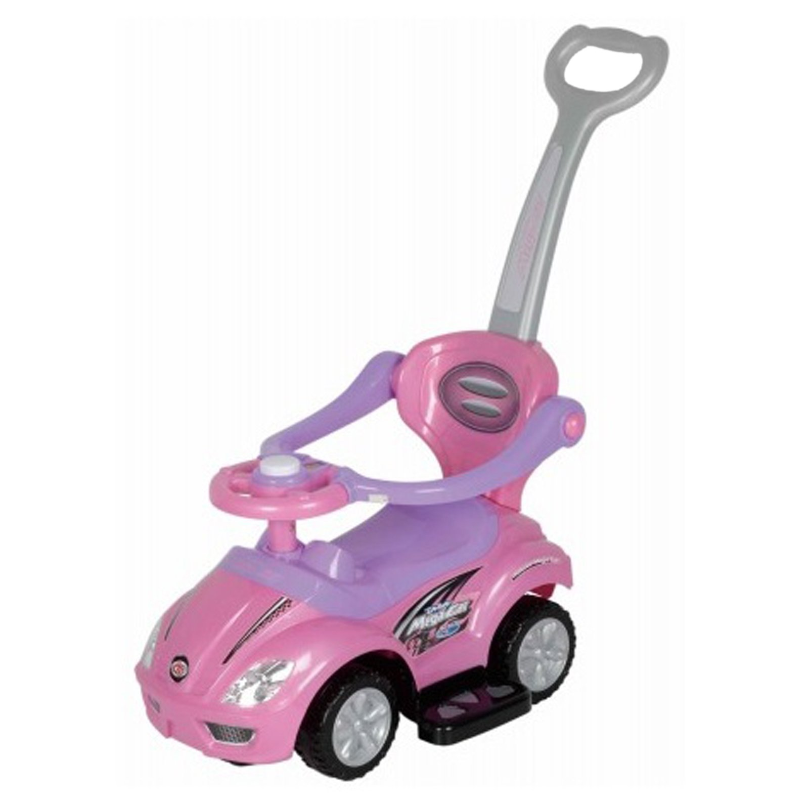 3-in-1 Stroller Kids Ride On Push Car in Pink