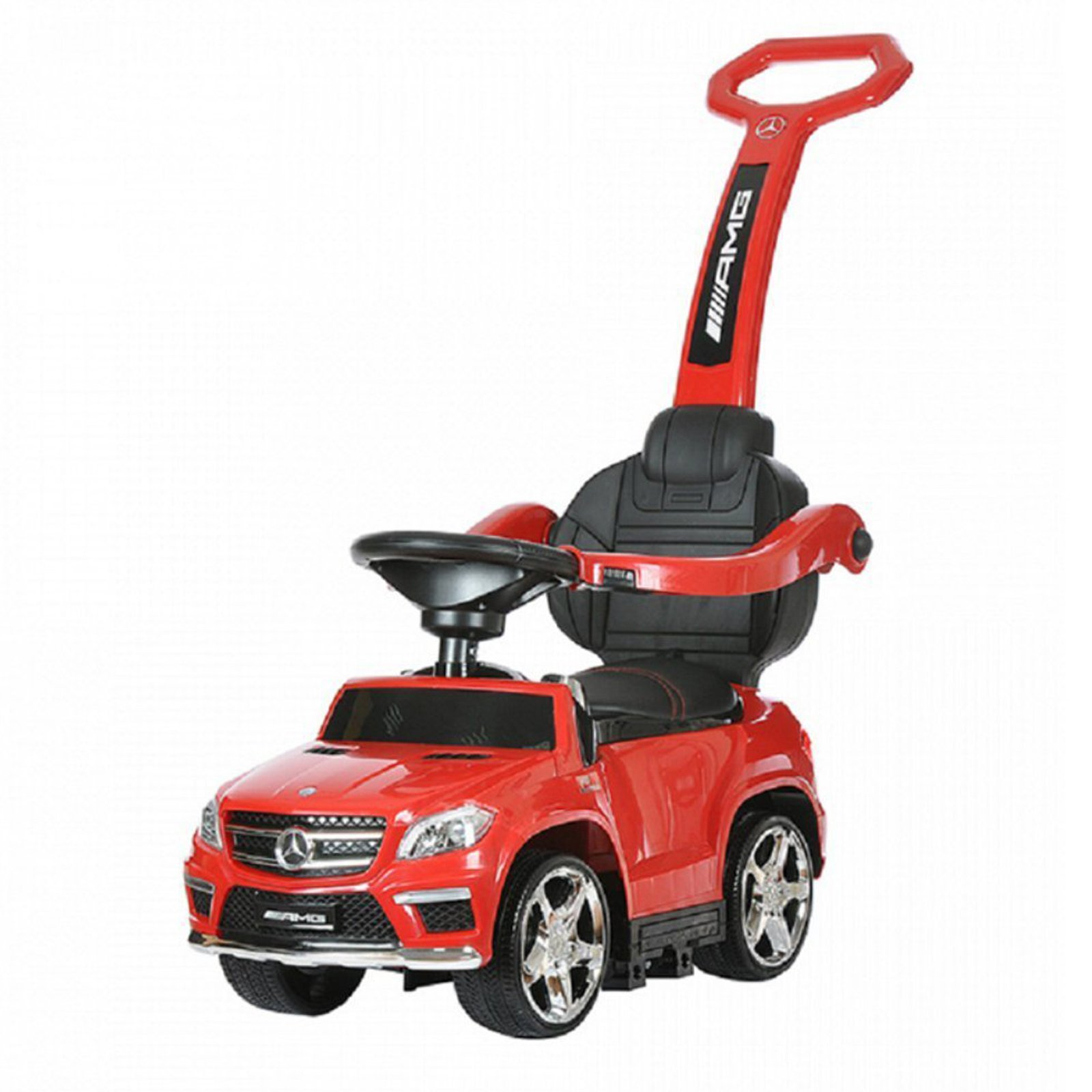 KidPlay Products 4 in 1 Ride On Mercedes PC - Red