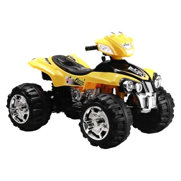 Yellow four wheeler ride on