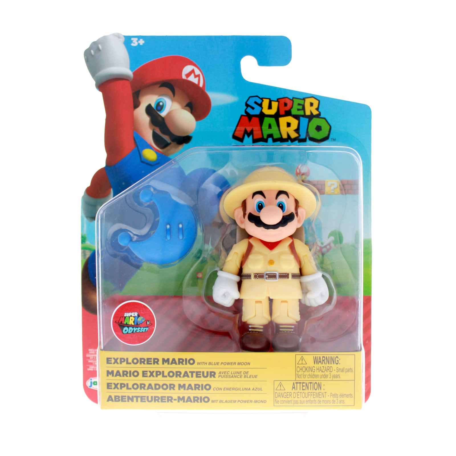 Nintendo Explorer Mario Articulated Action Figure Power Moon